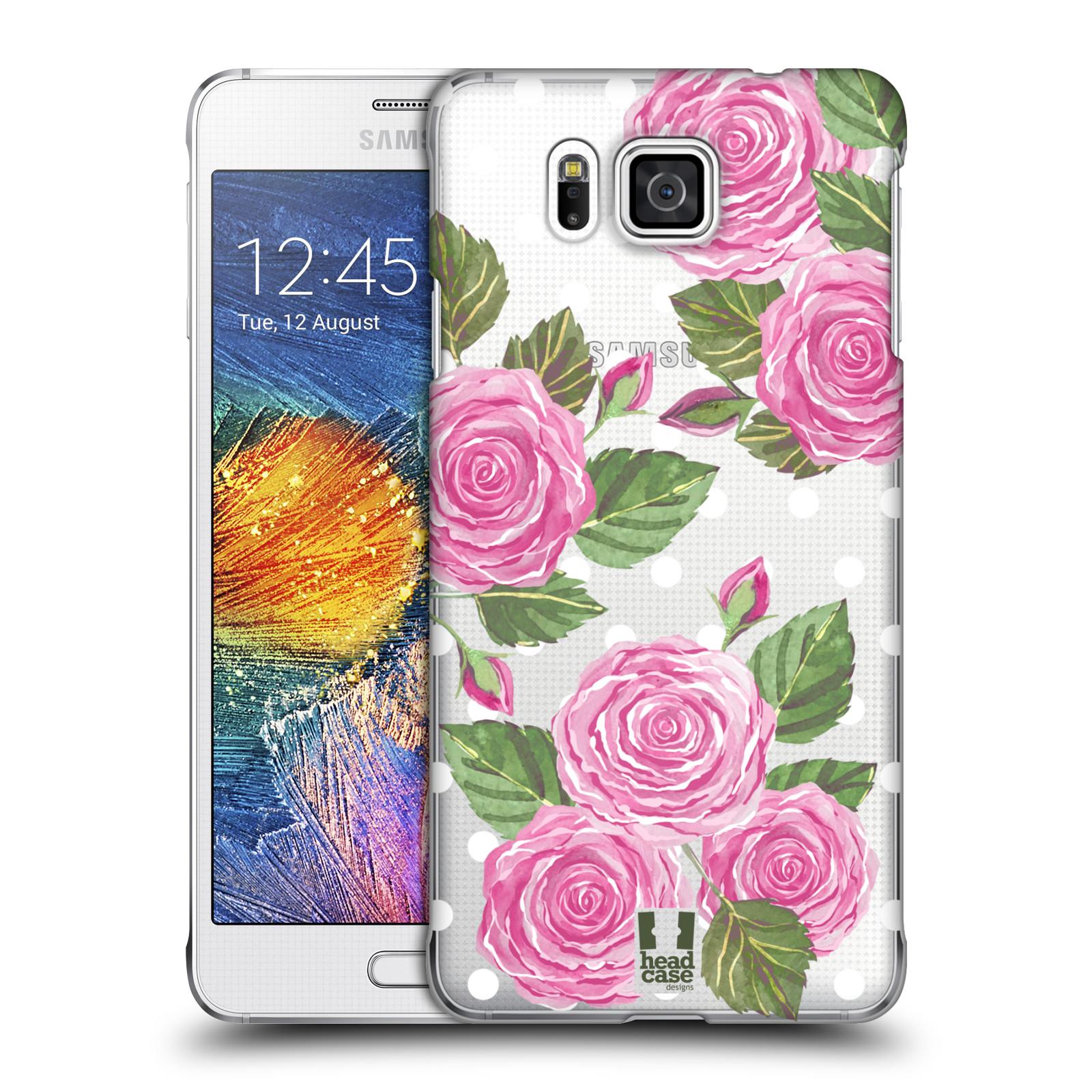 Plastové pouzdro na mobil Samsung Galaxy Alpha - Head Case - Hezoučké růžičky - průhledné