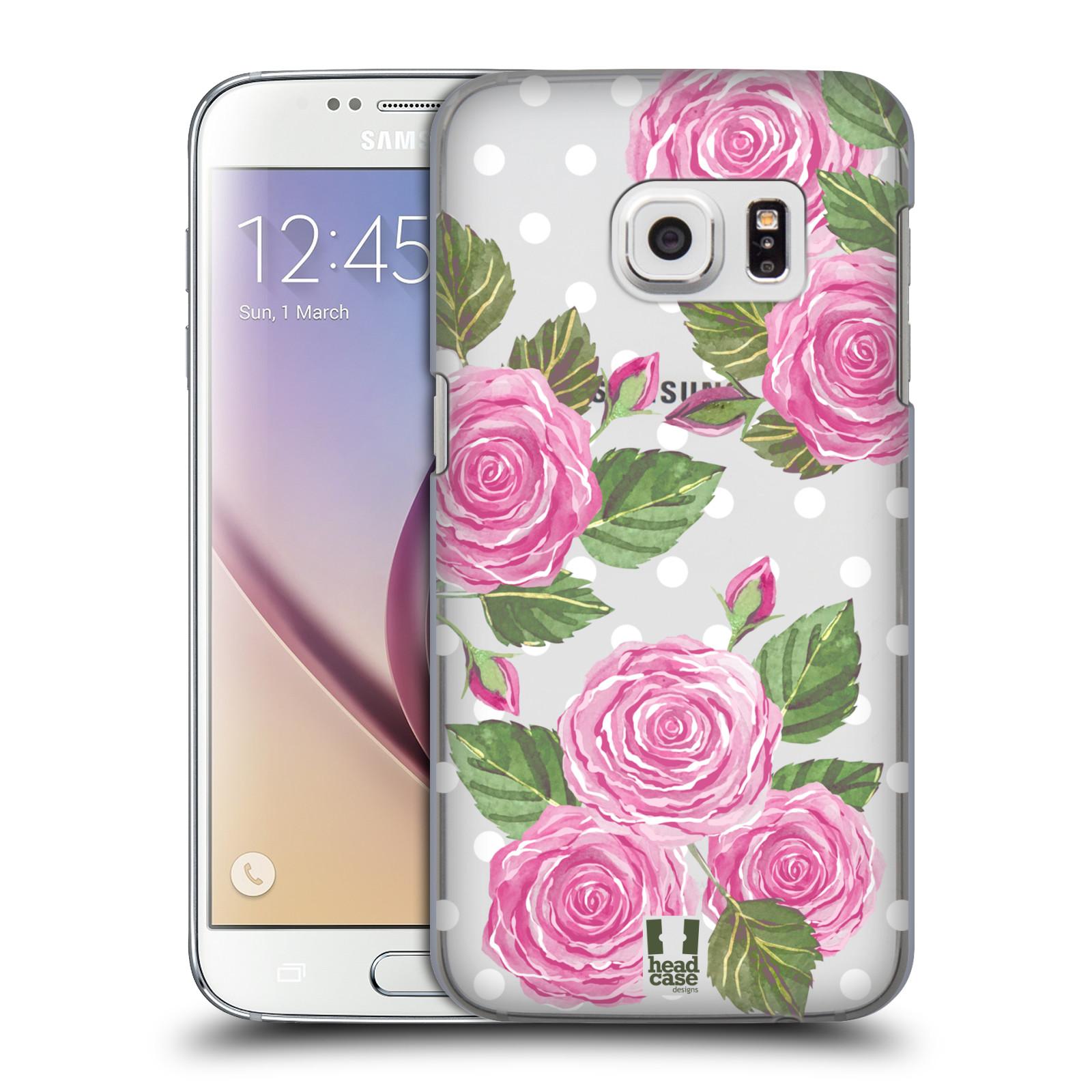 Plastové pouzdro na mobil Samsung Galaxy S7 - Head Case - Hezoučké růžičky - průhledné
