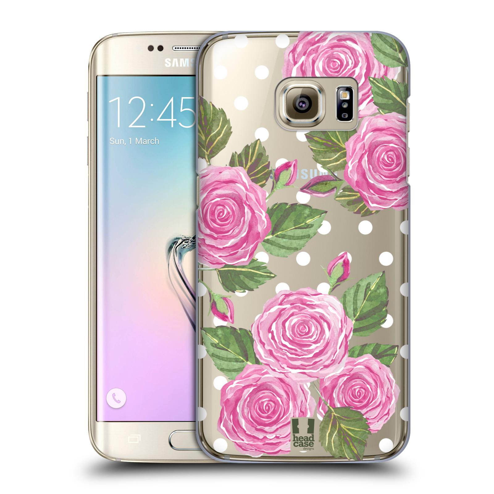 Plastové pouzdro na mobil Samsung Galaxy S7 Edge - Head Case - Hezoučké růžičky - průhledné