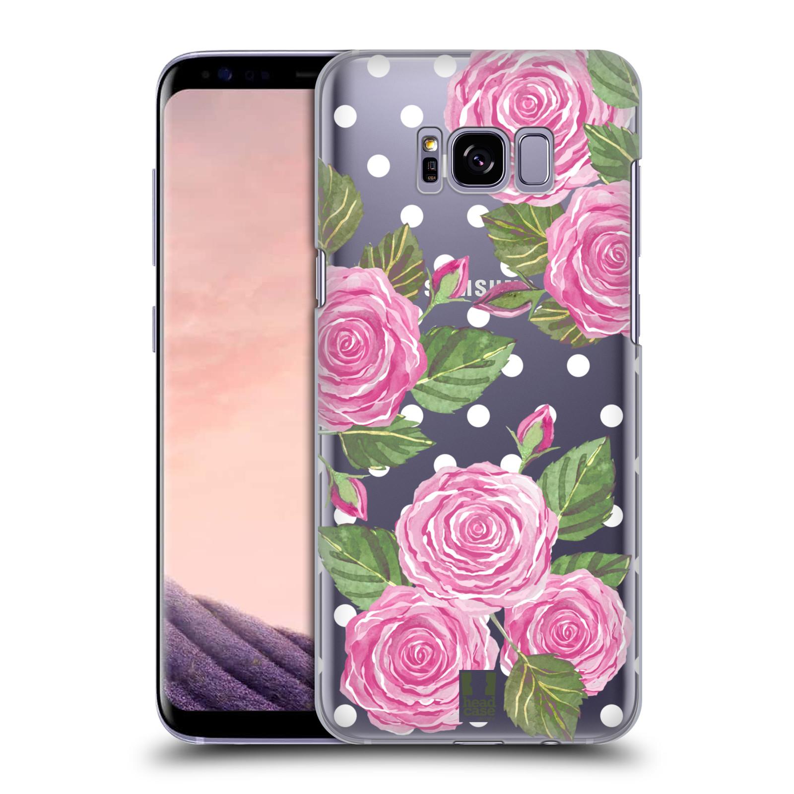 Plastové pouzdro na mobil Samsung Galaxy S8+ (Plus) - Head Case - Hezoučké růžičky - průhledné