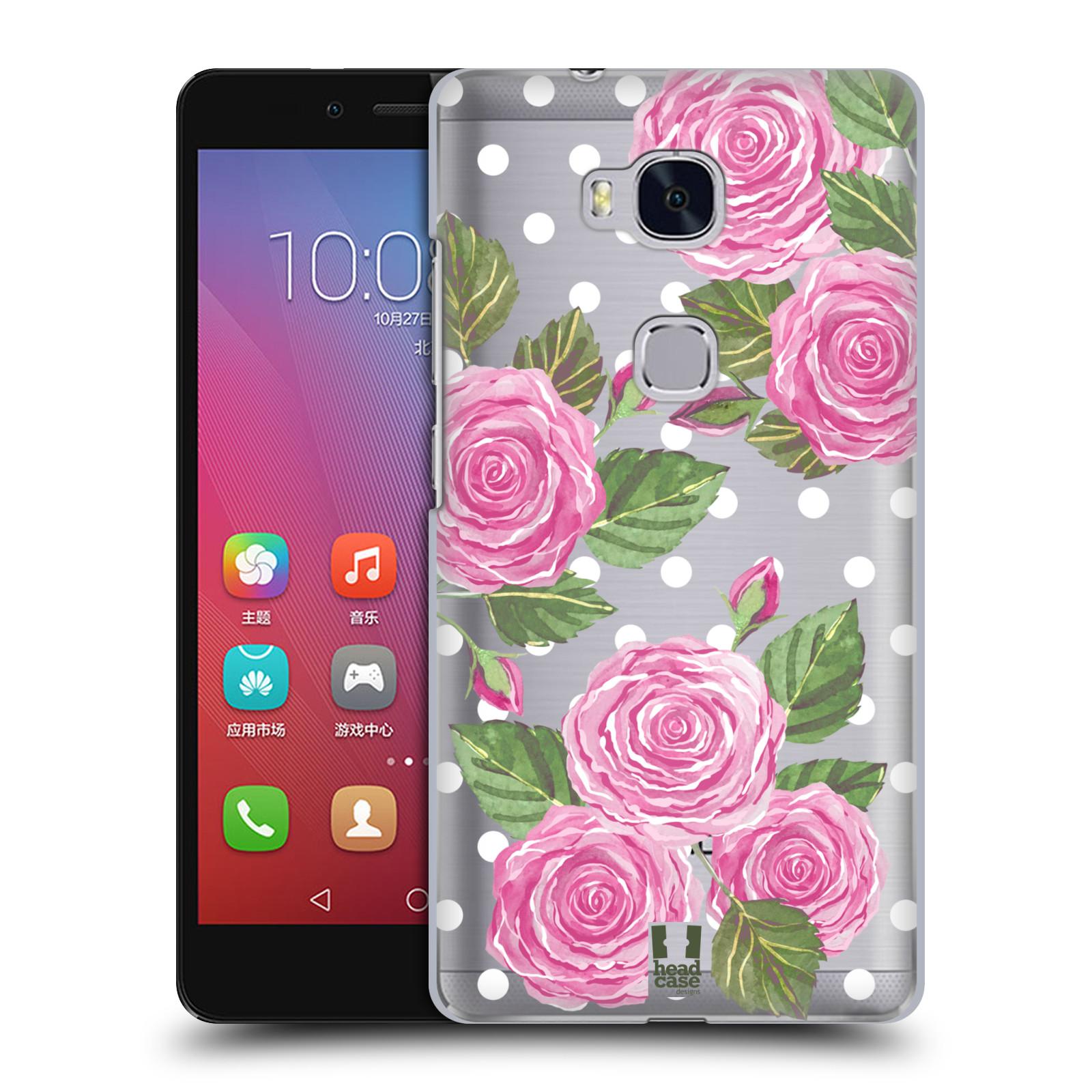 Plastové pouzdro na mobil Honor 5X - Head Case - Hezoučké růžičky - průhledné
