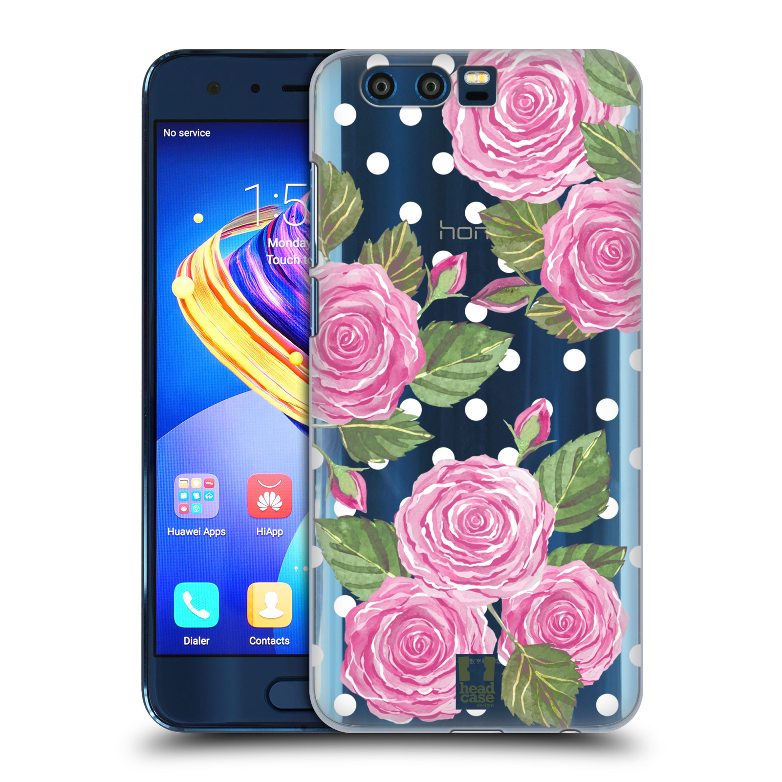 Plastové pouzdro na mobil Honor 9 - Head Case - Hezoučké růžičky - průhledné