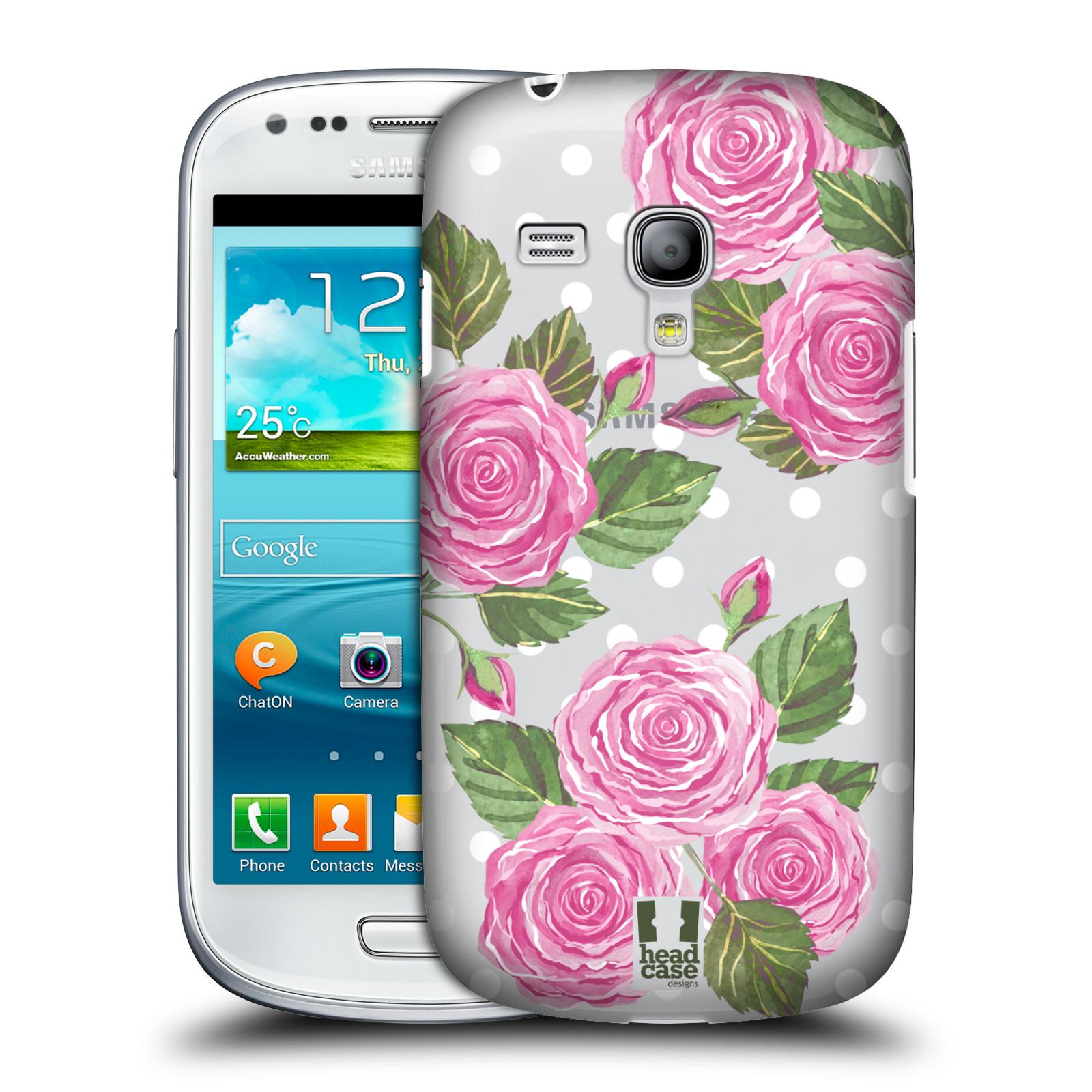 Plastové pouzdro na mobil Samsung Galaxy S III Mini - Head Case - Hezoučké růžičky - průhledné