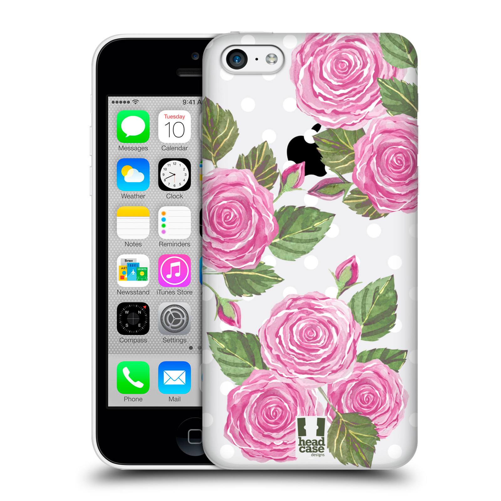 Plastové pouzdro na mobil Apple iPhone 5C - Head Case - Hezoučké růžičky - průhledné