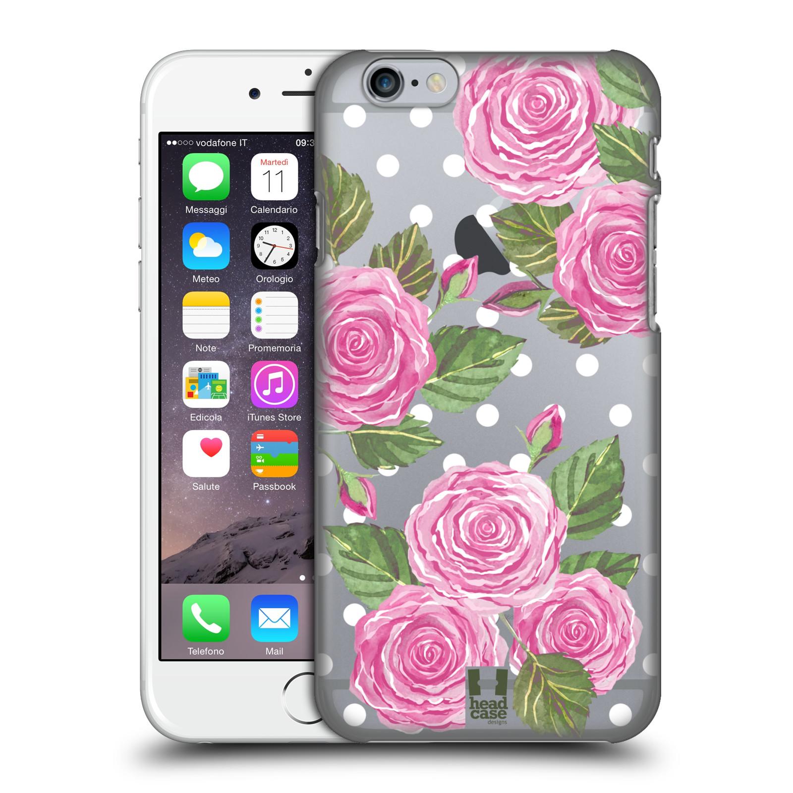Plastové pouzdro na mobil Apple iPhone 6 - Head Case - Hezoučké růžičky - průhledné