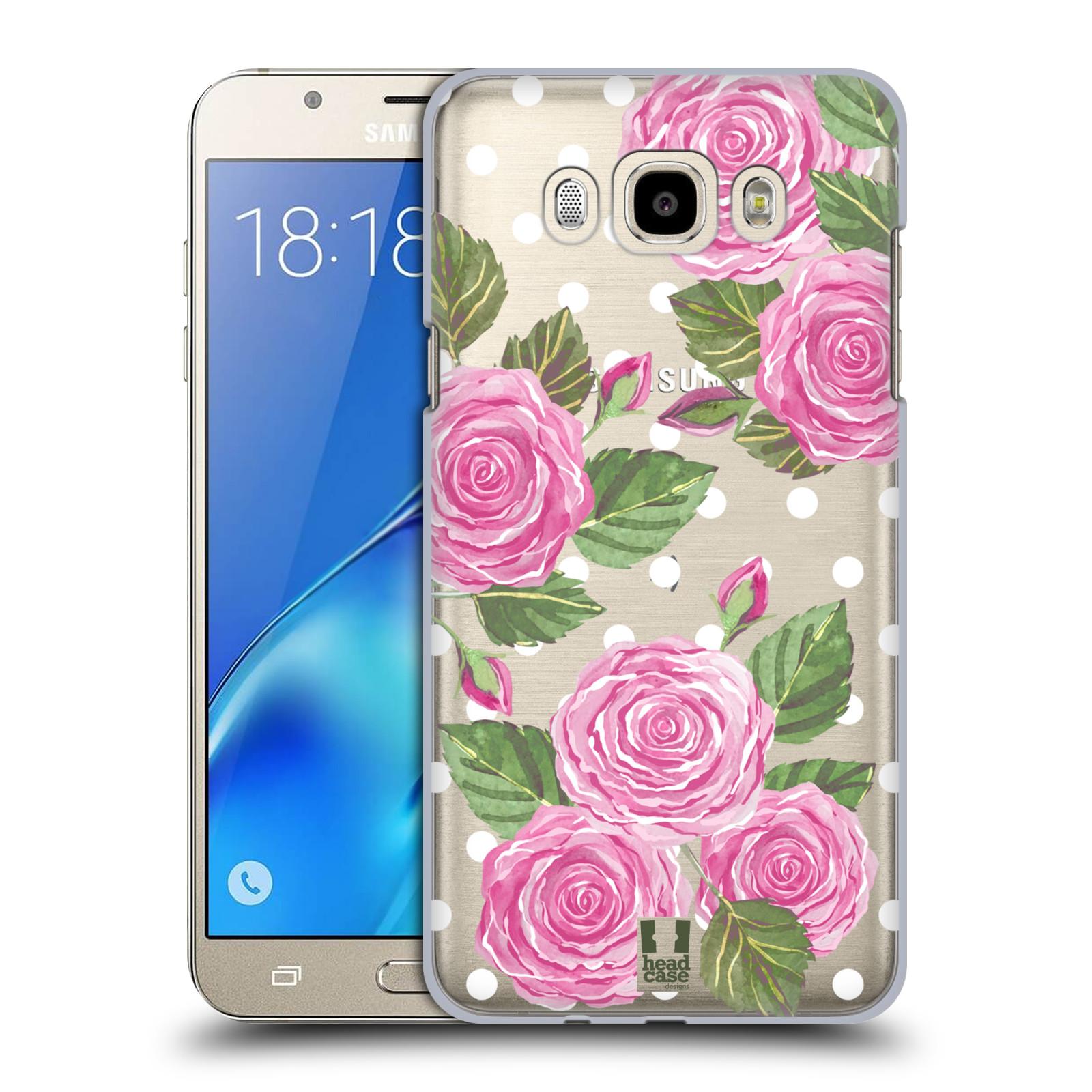 Plastové pouzdro na mobil Samsung Galaxy J7 (2016) - Head Case - Hezoučké růžičky - průhledné