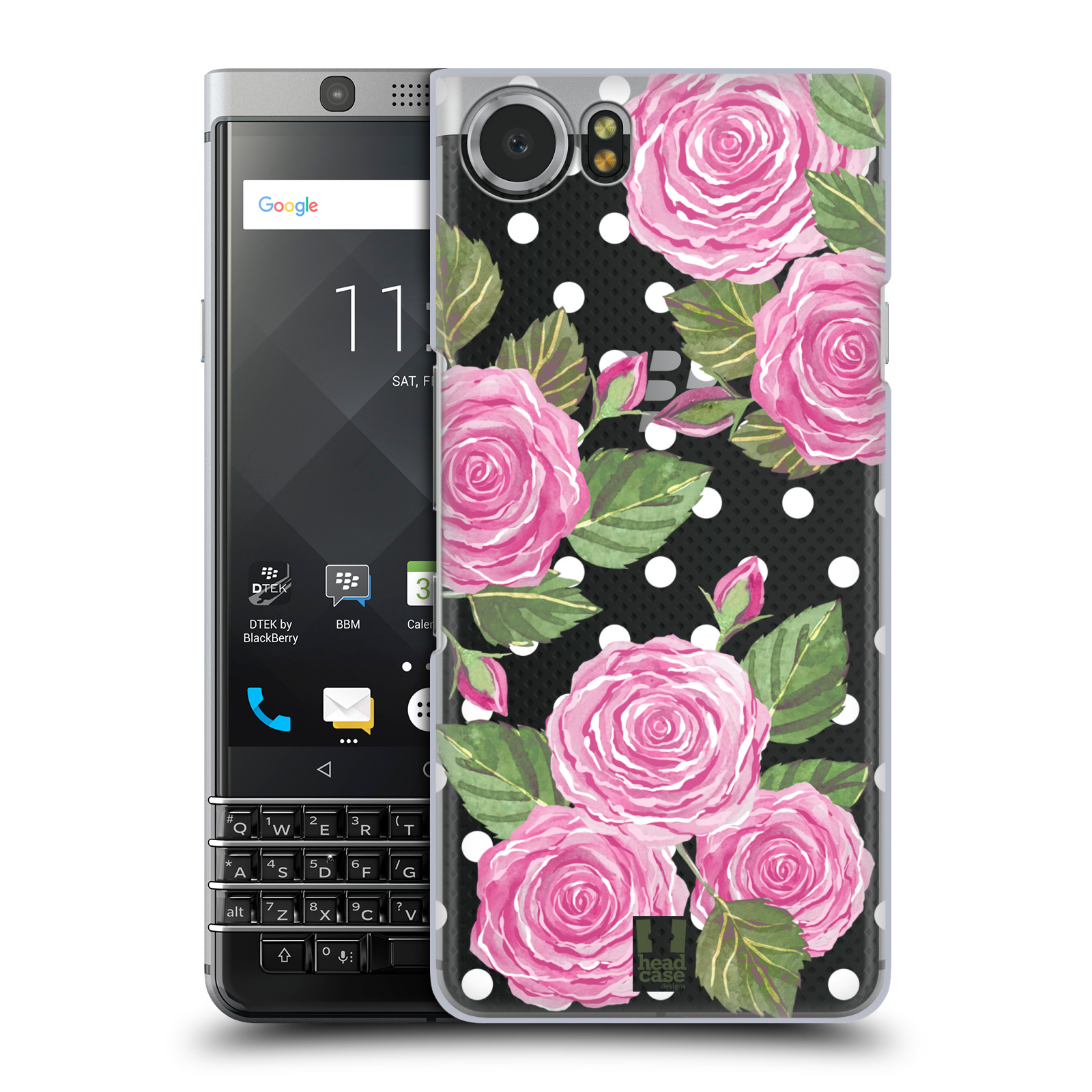 Plastové pouzdro na mobil BlackBerry KEYone - Head Case - Hezoučké růžičky - průhledné