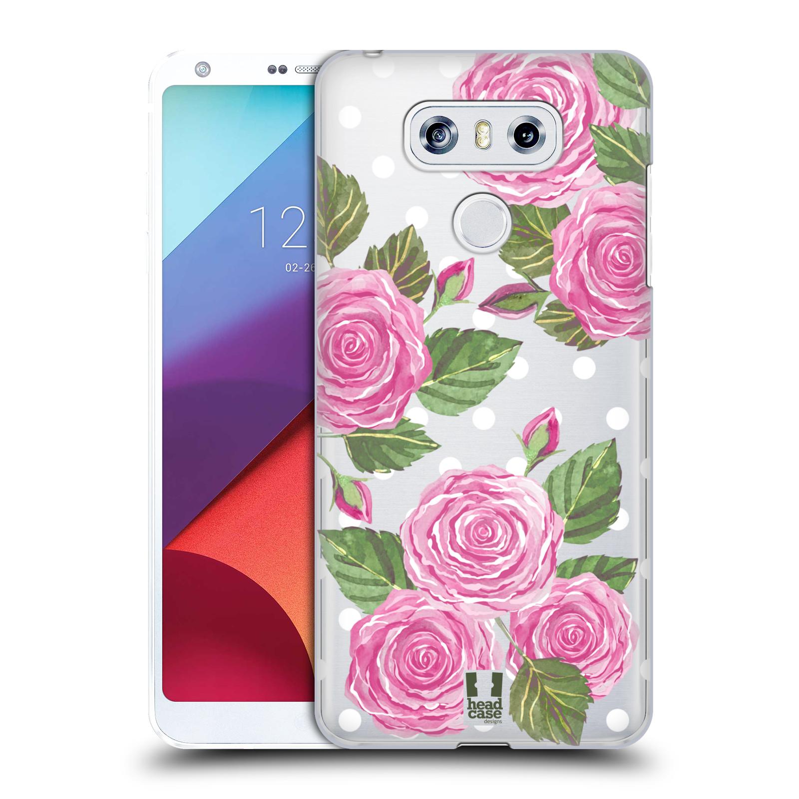 Plastové pouzdro na mobil LG G6 - Head Case - Hezoučké růžičky - průhledné