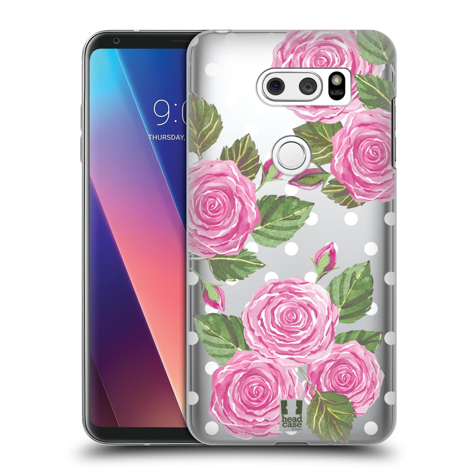 Plastové pouzdro na mobil LG V30 - Head Case - Hezoučké růžičky - průhledné