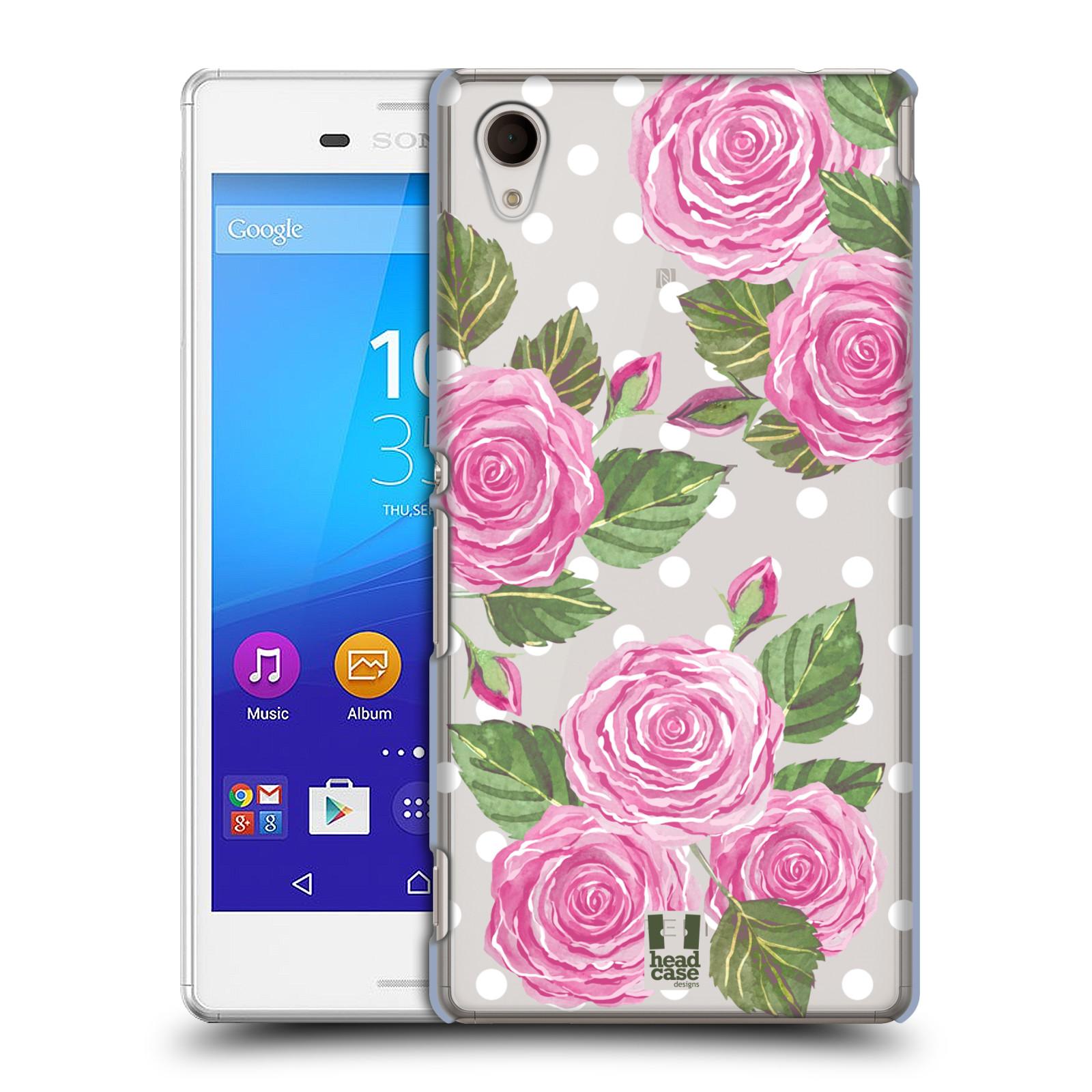 Plastové pouzdro na mobil Sony Xperia M4 Aqua E2303 - Head Case - Hezoučké růžičky - průhledné