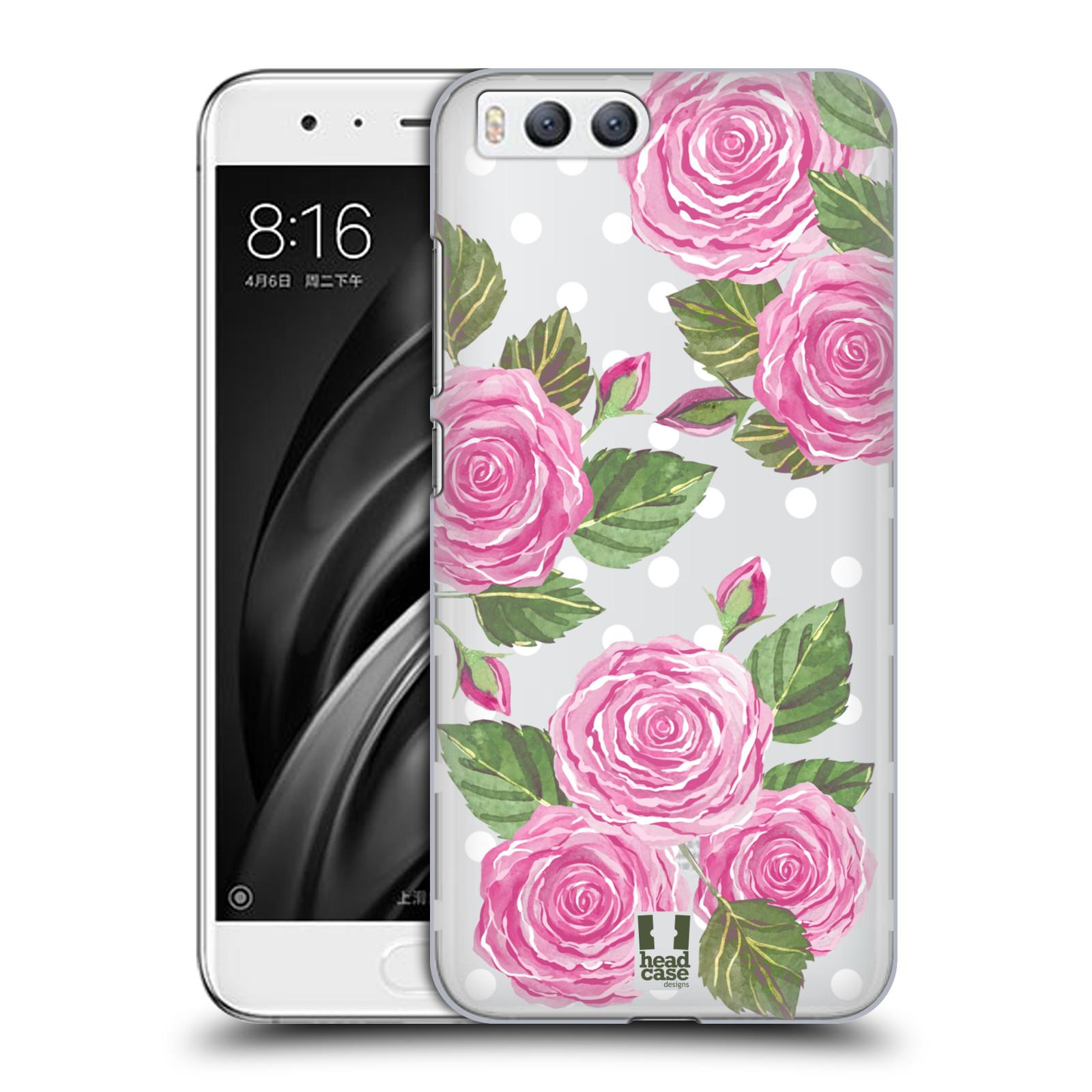 Plastové pouzdro na mobil Xiaomi Mi6 - Head Case - Hezoučké růžičky - průhledné