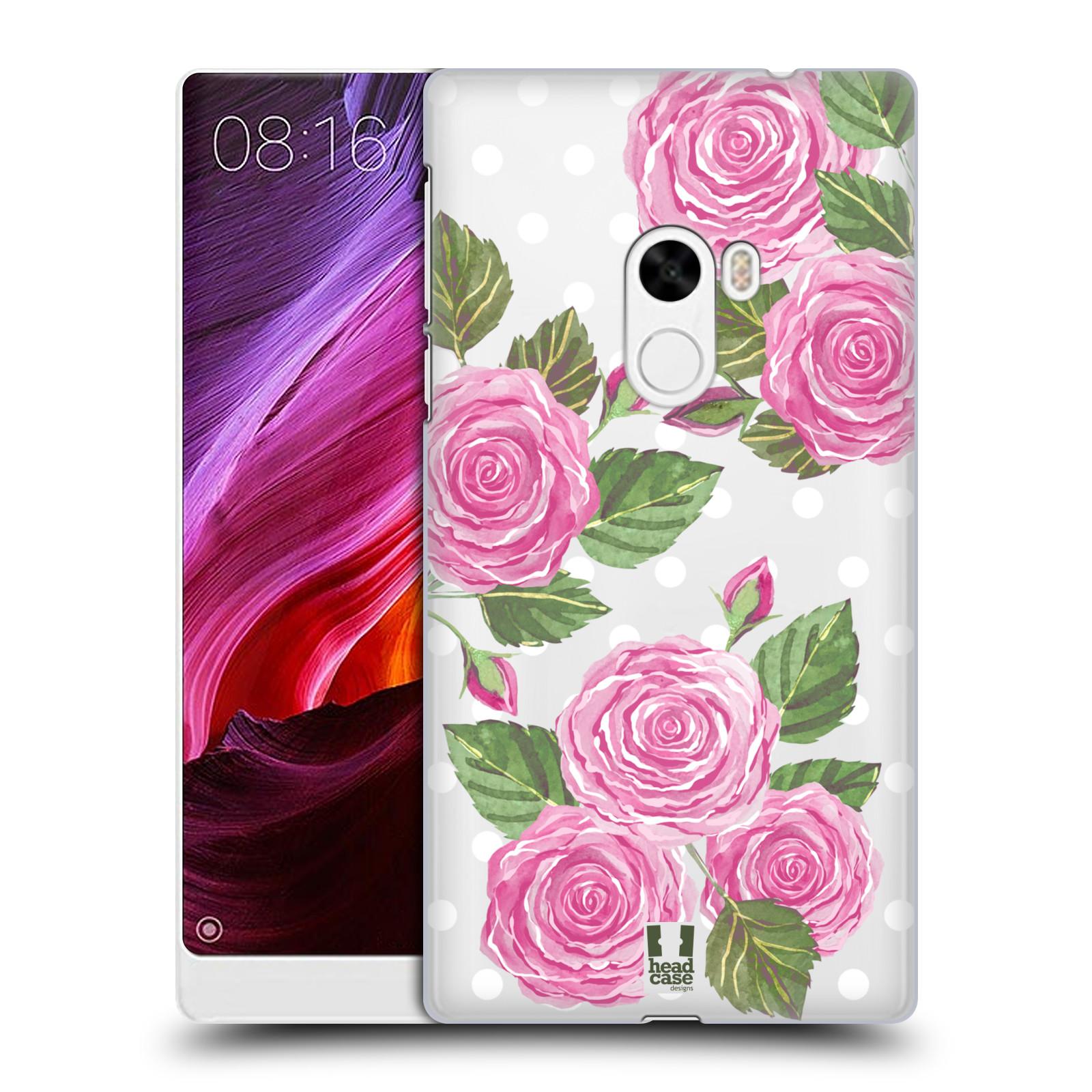 Plastové pouzdro na mobil Xiaomi Mi Mix - Head Case - Hezoučké růžičky - průhledné