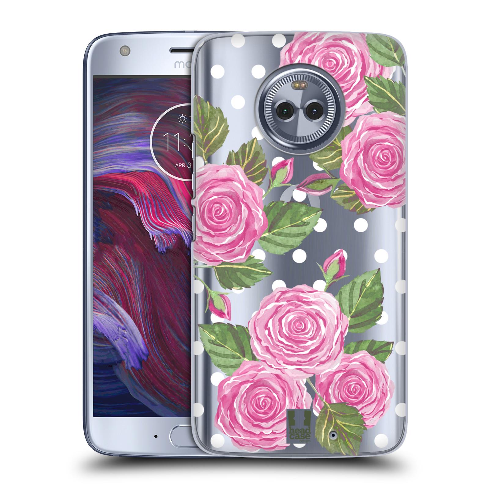 Plastové pouzdro na mobil Lenovo Moto X4 - Head Case - Hezoučké růžičky - průhledné