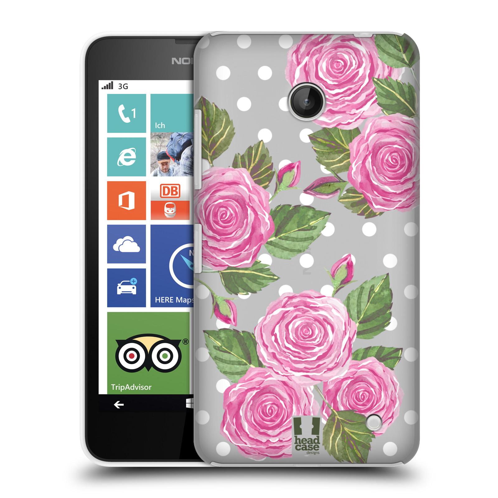 Plastové pouzdro na mobil Nokia Lumia 630 - Head Case - Hezoučké růžičky - průhledné