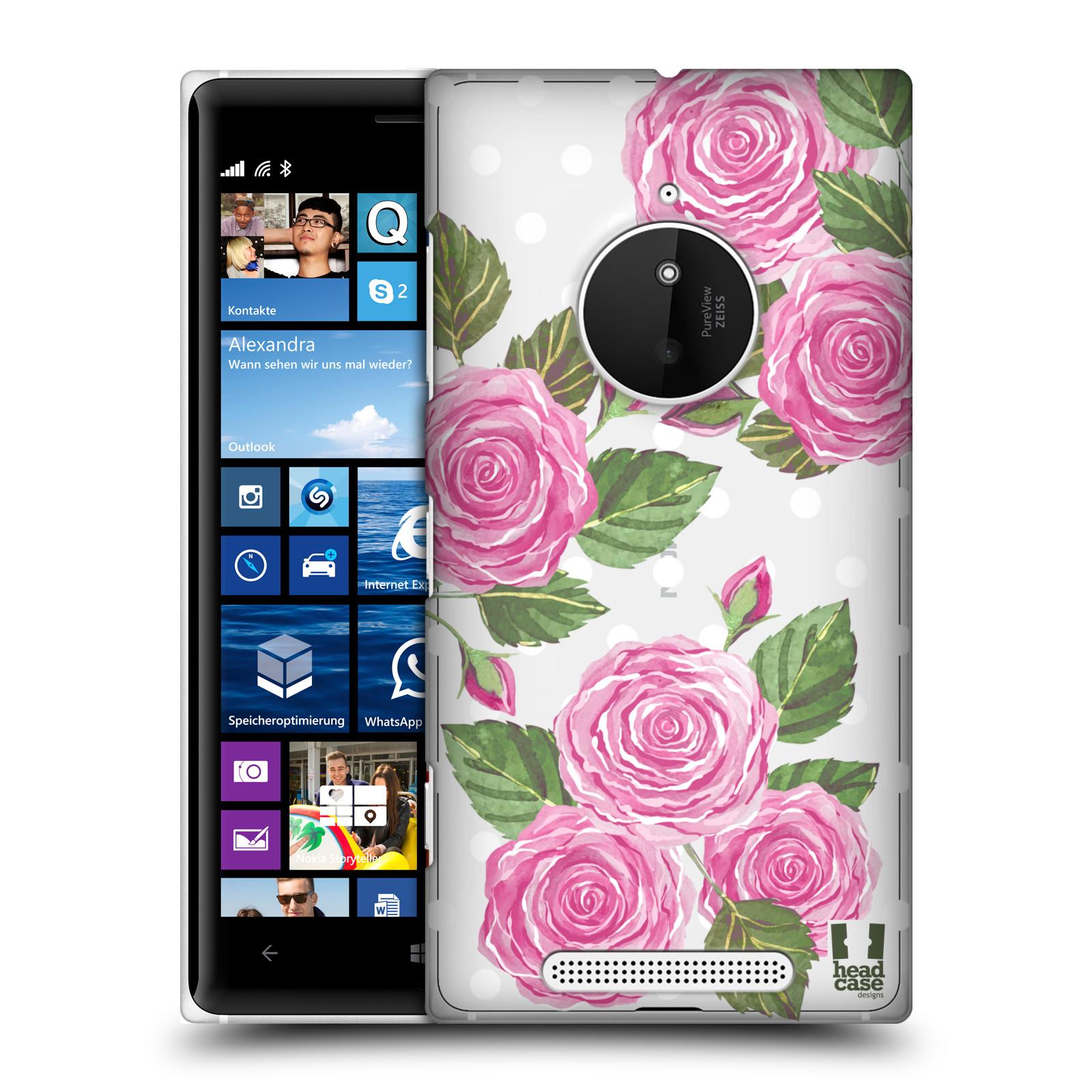 Plastové pouzdro na mobil Nokia Lumia 830 - Head Case - Hezoučké růžičky - průhledné