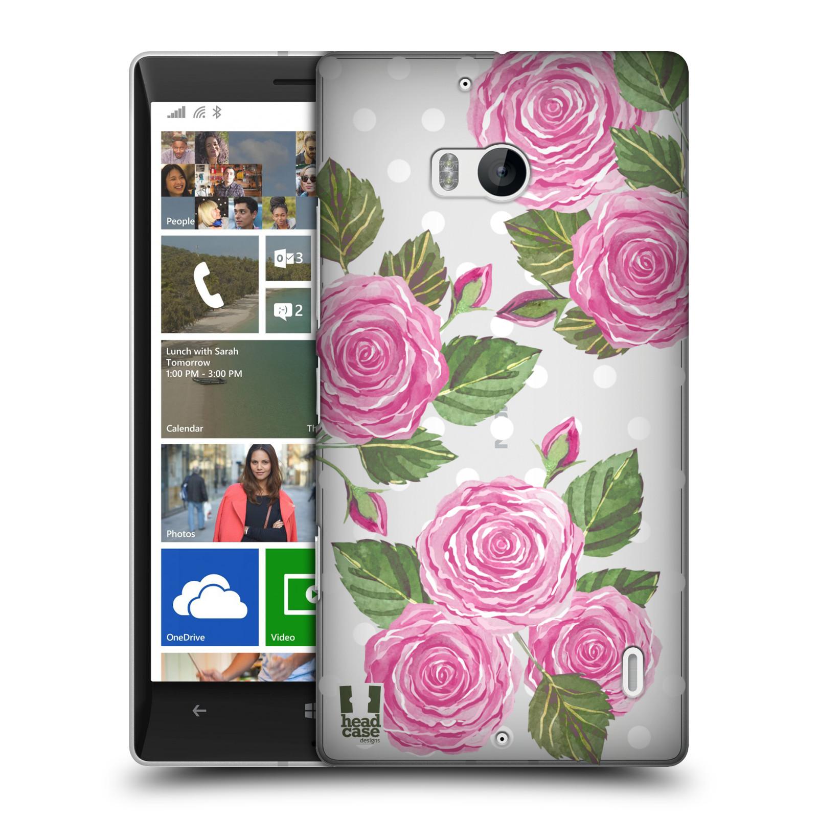 Plastové pouzdro na mobil Nokia Lumia 930 - Head Case - Hezoučké růžičky - průhledné