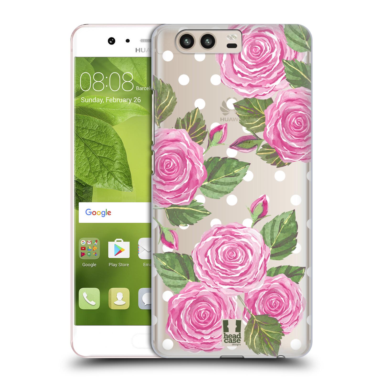 Plastové pouzdro na mobil Huawei P10 - Head Case - Hezoučké růžičky - průhledné (Plastový kryt či obal na mobilní telefon s motivem Hezkých růžiček pro Huawei P10 (Dual SIM))