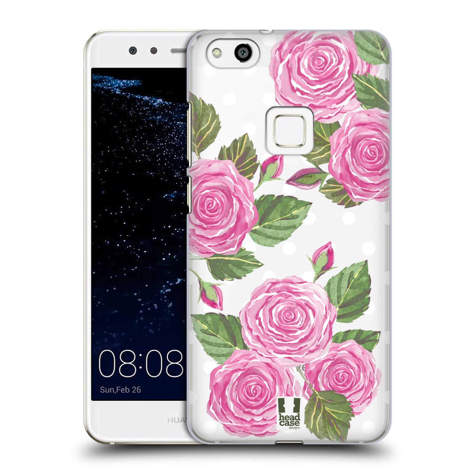 Plastové pouzdro na mobil Huawei P10 Lite Head Case - Hezoučké růžičky - průhledné