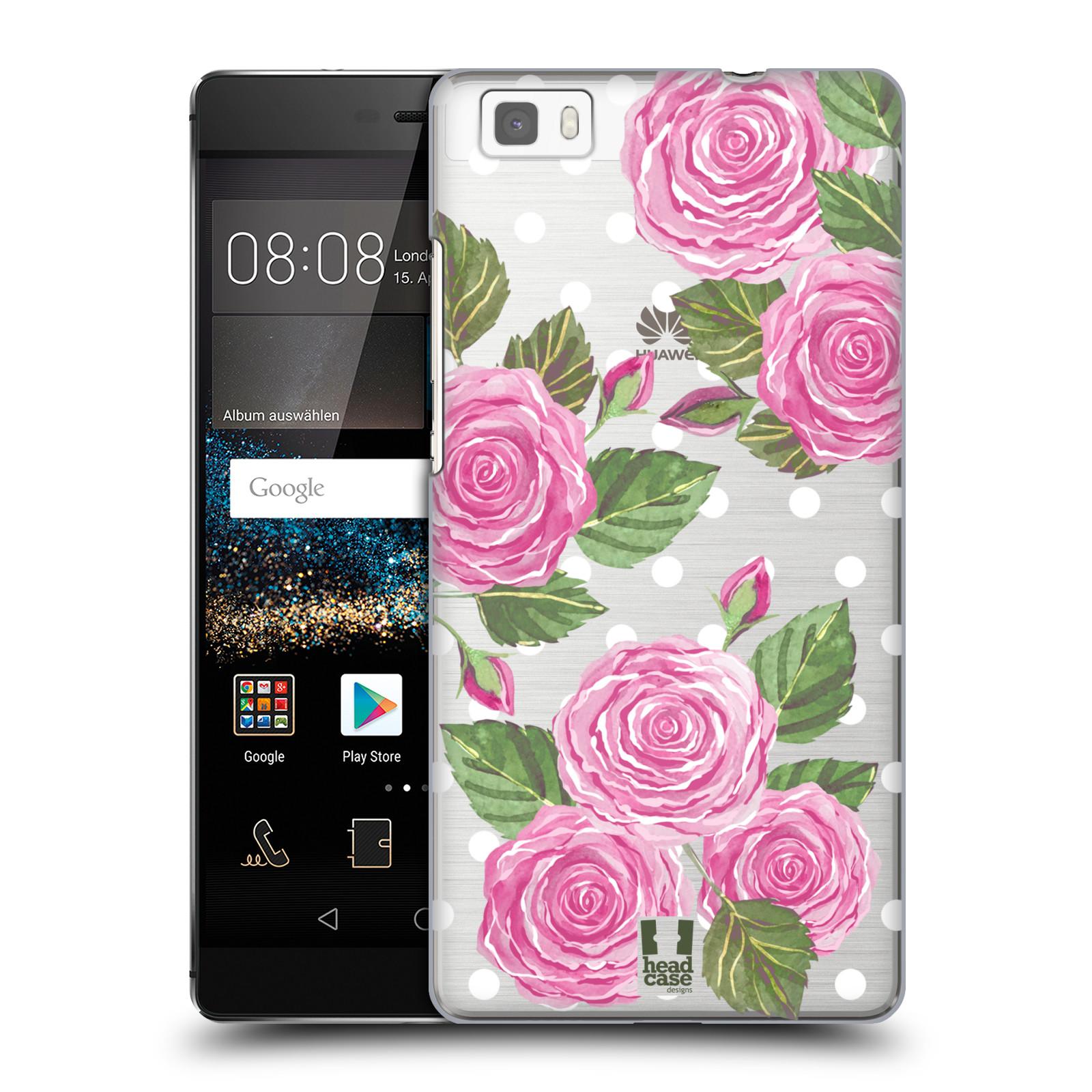 Plastové pouzdro na mobil Huawei P8 Lite - Head Case - Hezoučké růžičky - průhledné