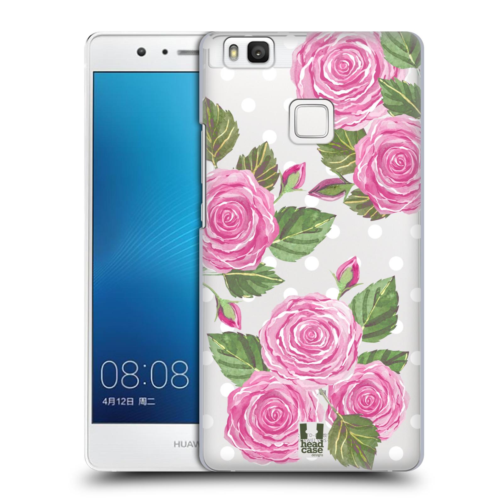 Plastové pouzdro na mobil Huawei P9 Lite - Head Case - Hezoučké růžičky - průhledné