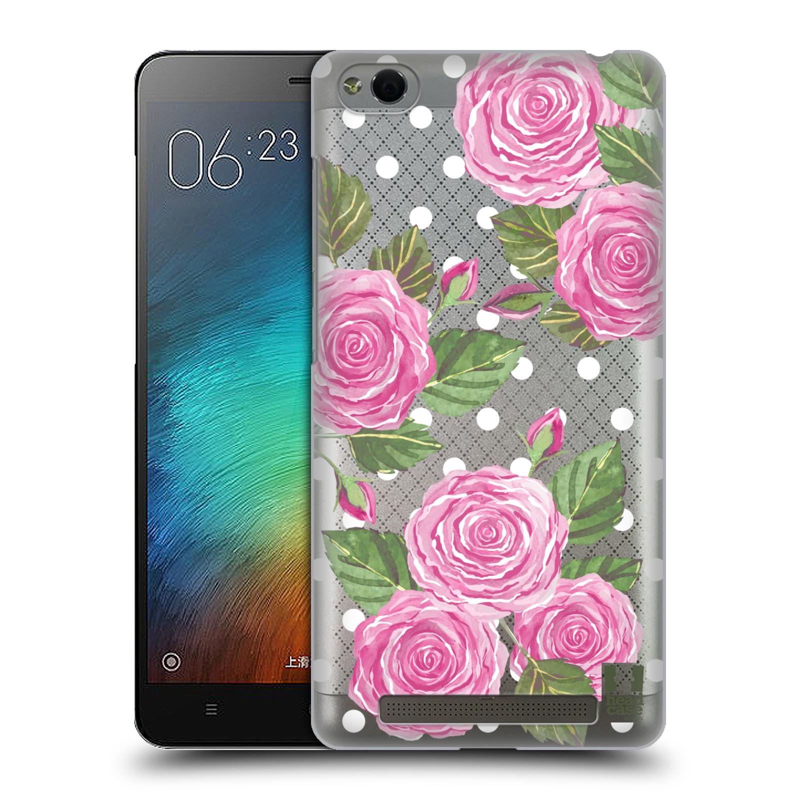 Plastové pouzdro na mobil Xiaomi Redmi 3 - Head Case - Hezoučké růžičky - průhledné