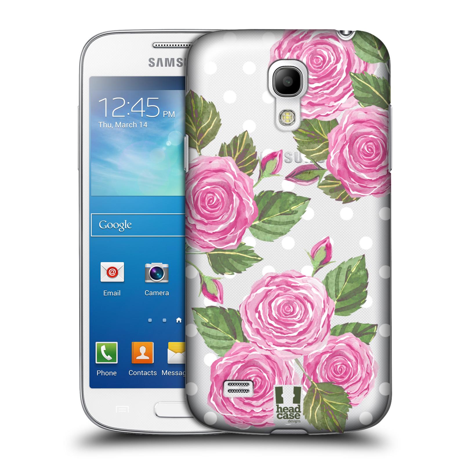 Plastové pouzdro na mobil Samsung Galaxy S4 Mini - Head Case - Hezoučké růžičky - průhledné