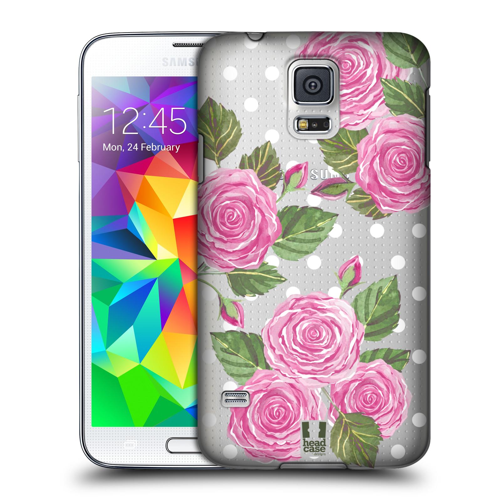 Plastové pouzdro na mobil Samsung Galaxy S5 - Head Case - Hezoučké růžičky - průhledné