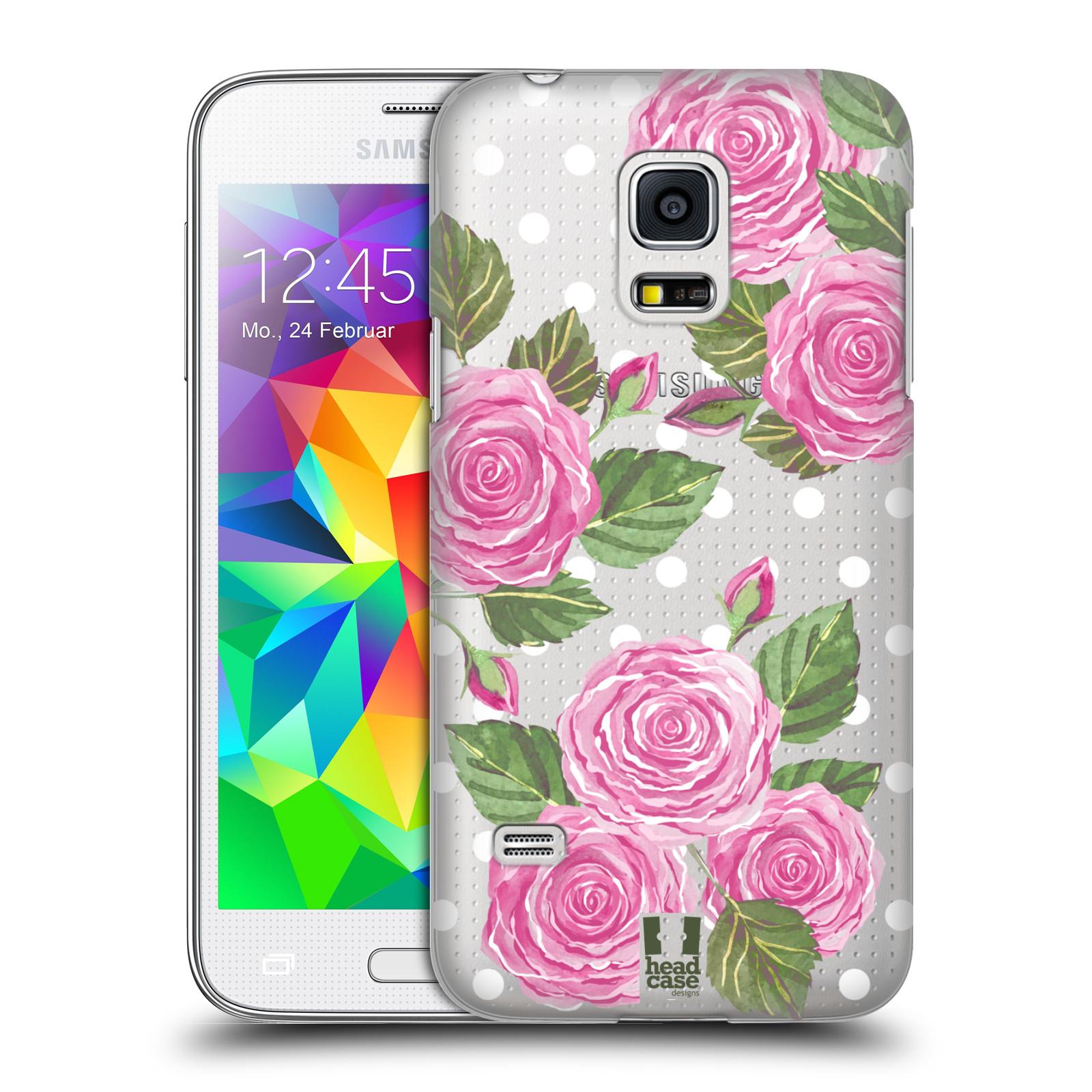 Plastové pouzdro na mobil Samsung Galaxy S5 Mini - Head Case - Hezoučké růžičky - průhledné