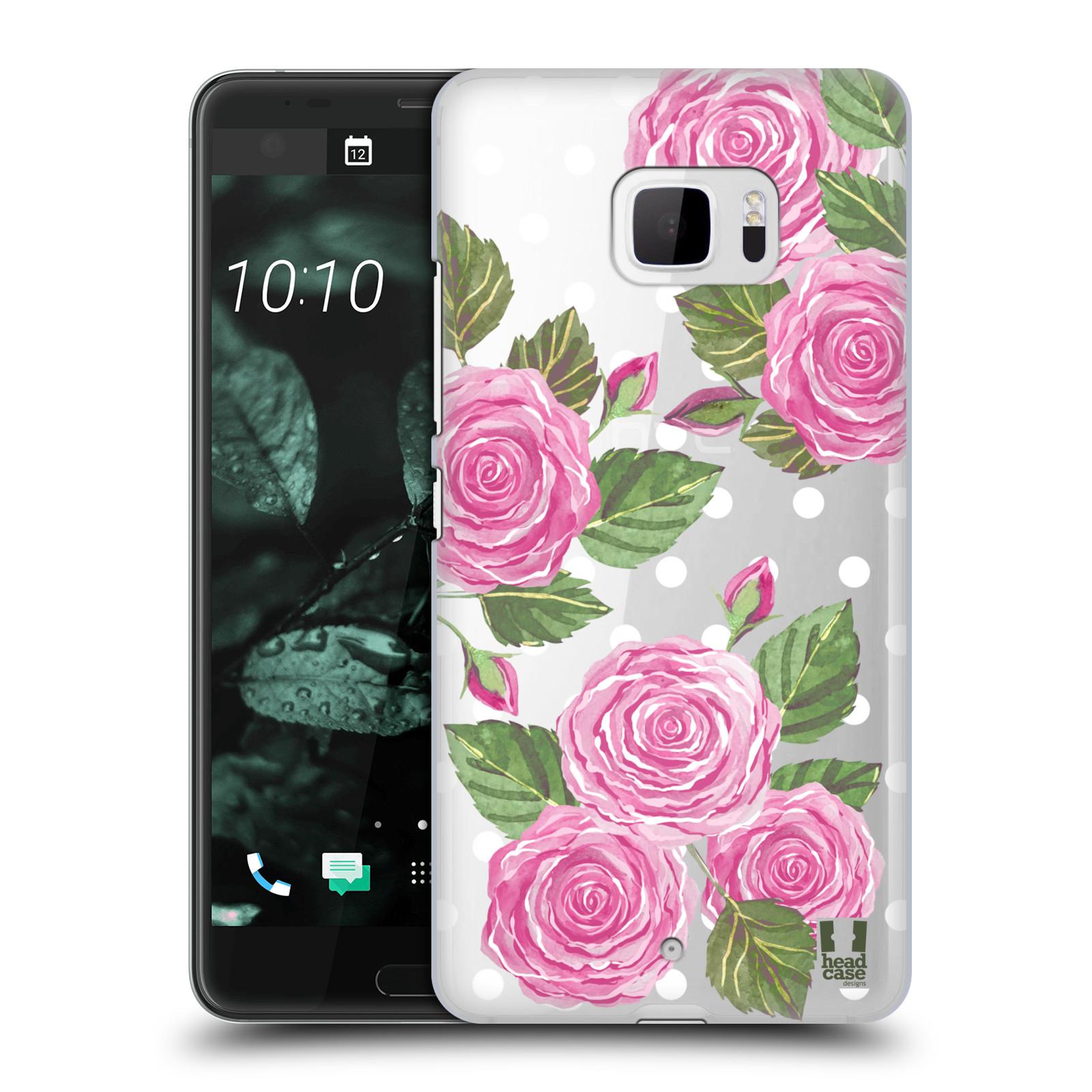 Plastové pouzdro na mobil HTC U Ultra Head Case - Hezoučké růžičky - průhledné