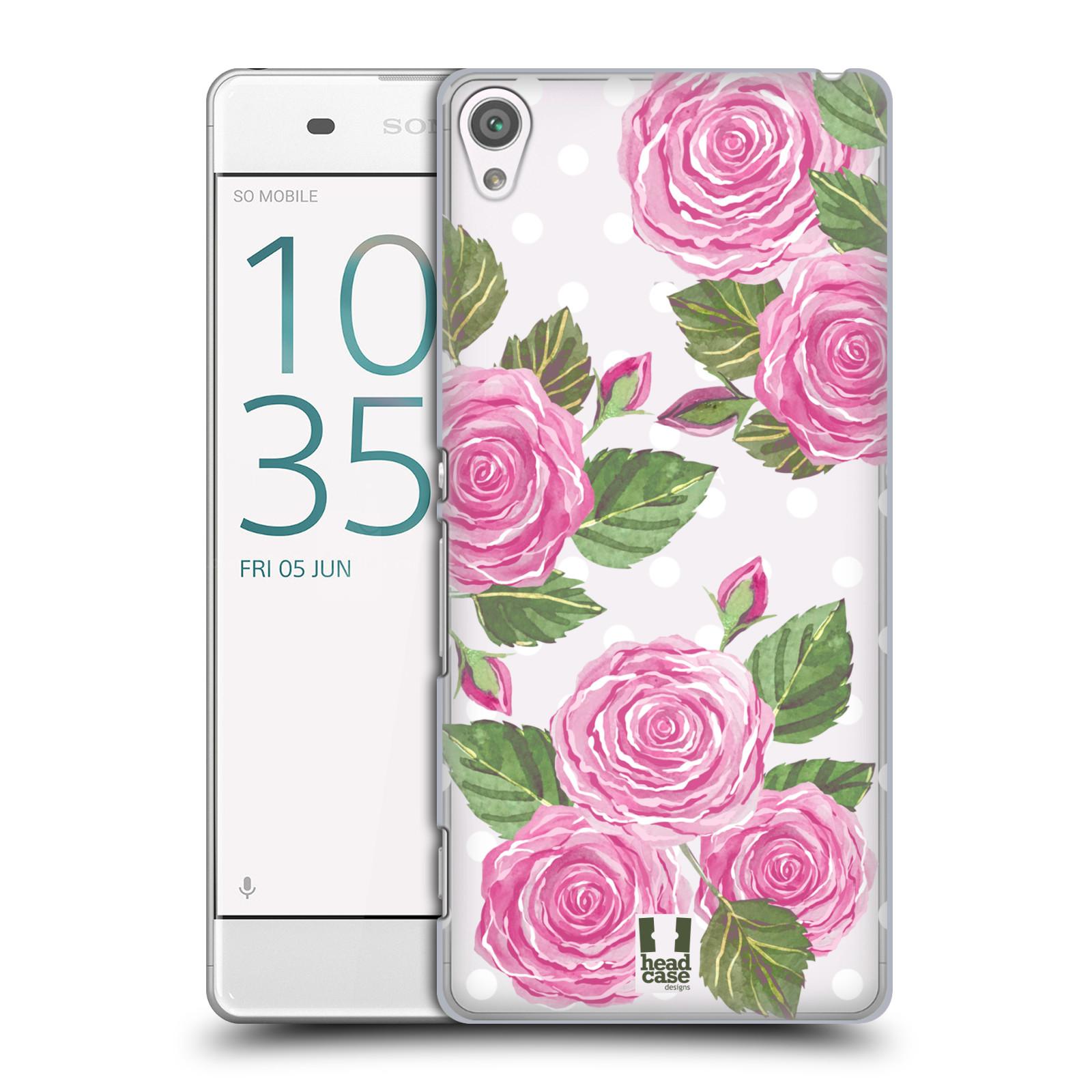 Plastové pouzdro na mobil Sony Xperia XA - Head Case - Hezoučké růžičky - průhledné