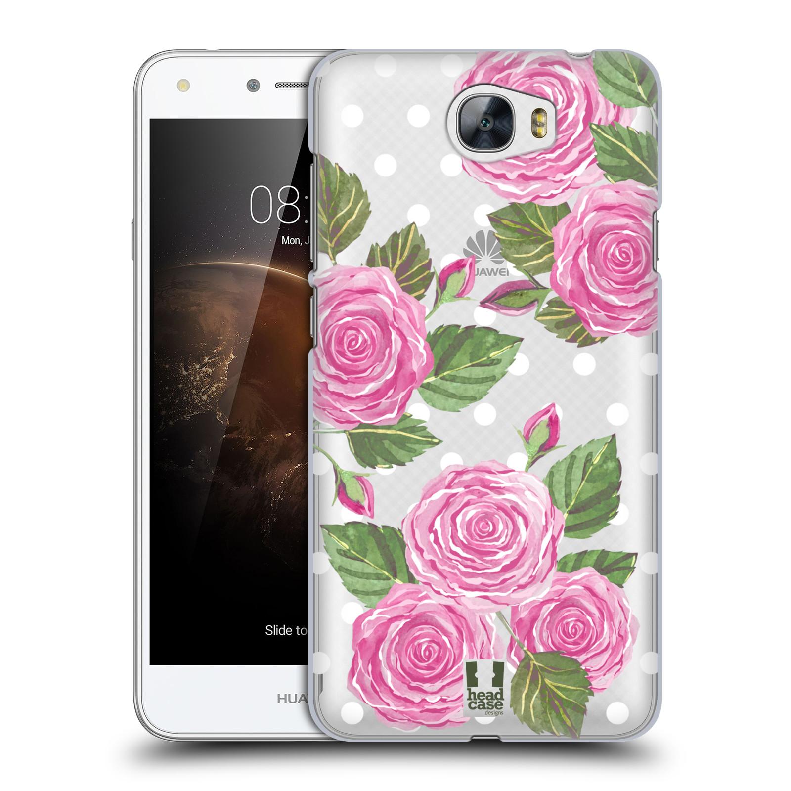 Plastové pouzdro na mobil Huawei Y6 II Compact - Head Case - Hezoučké růžičky - průhledné