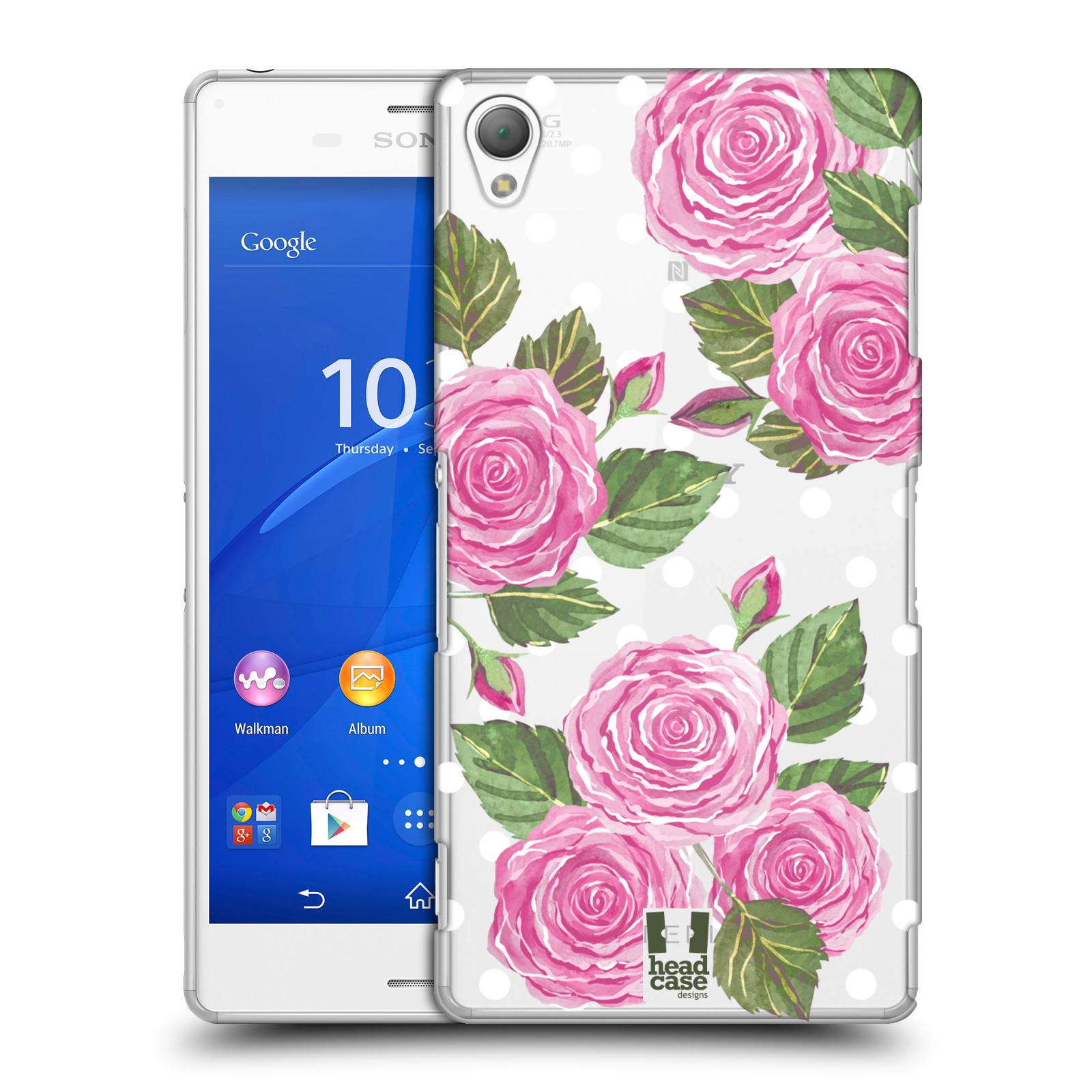 Plastové pouzdro na mobil Sony Xperia Z3 D6603 - Head Case - Hezoučké růžičky - průhledné