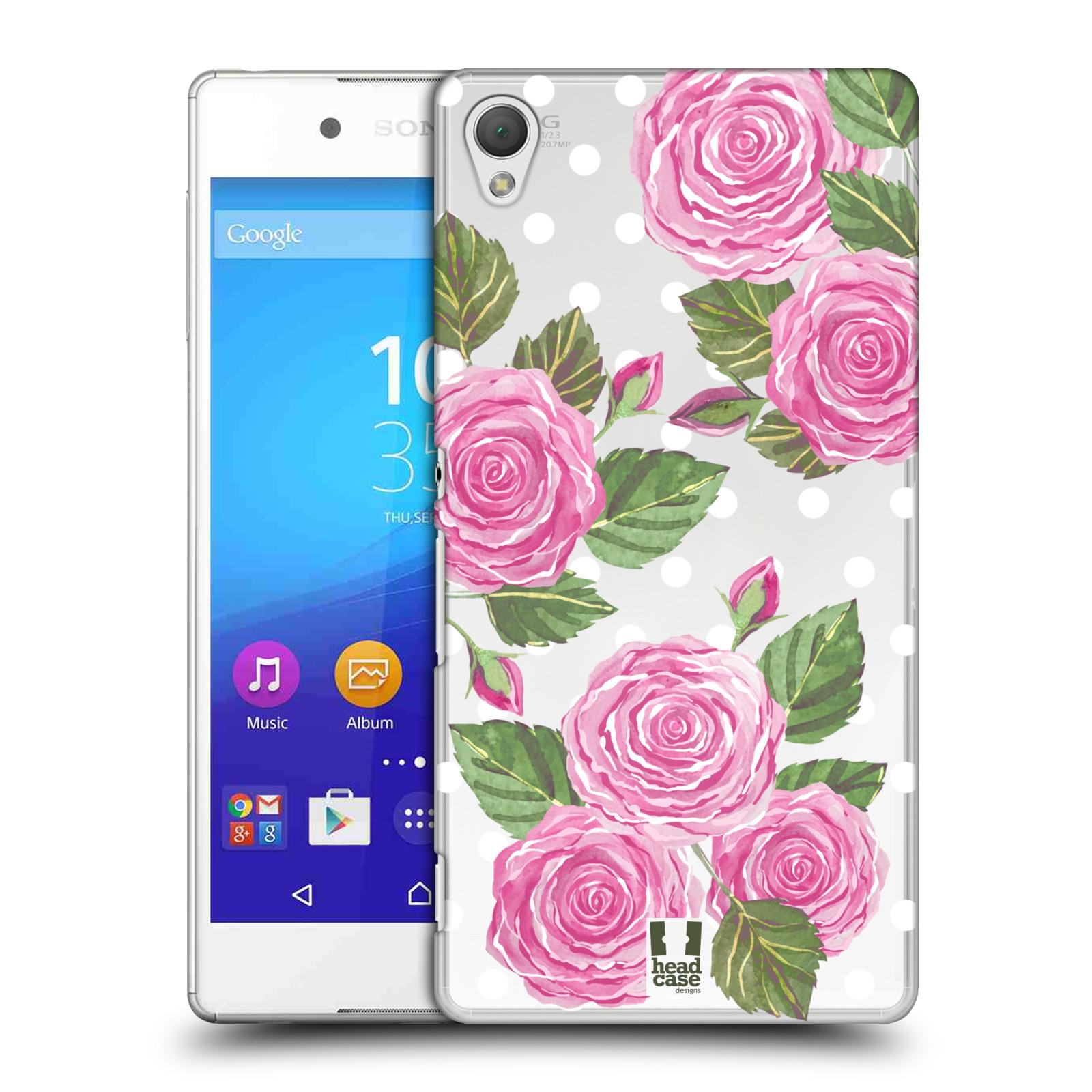 Plastové pouzdro na mobil Sony Xperia Z3+ (Plus) - Head Case - Hezoučké růžičky - průhledné