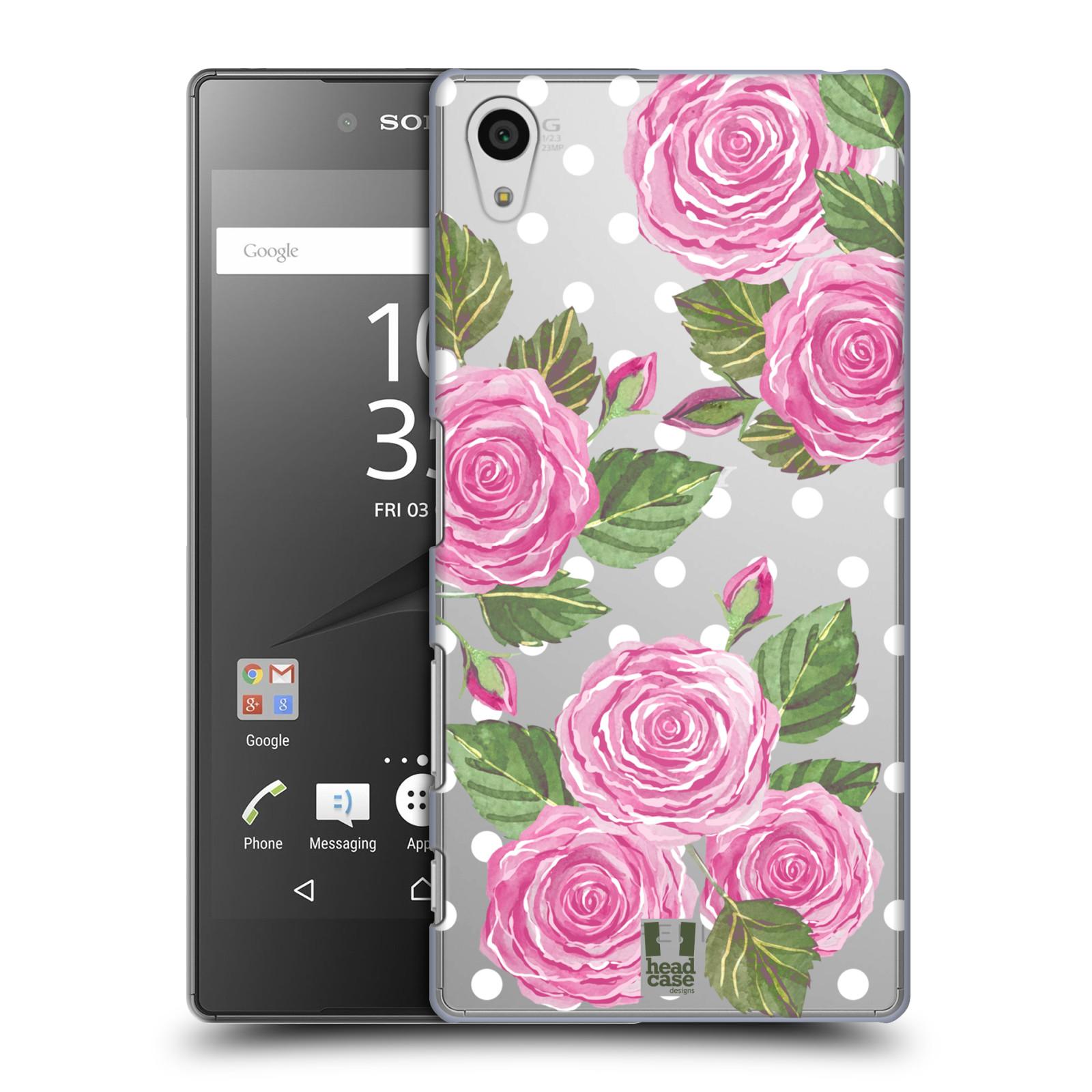 Plastové pouzdro na mobil Sony Xperia Z5 - Head Case - Hezoučké růžičky - průhledné