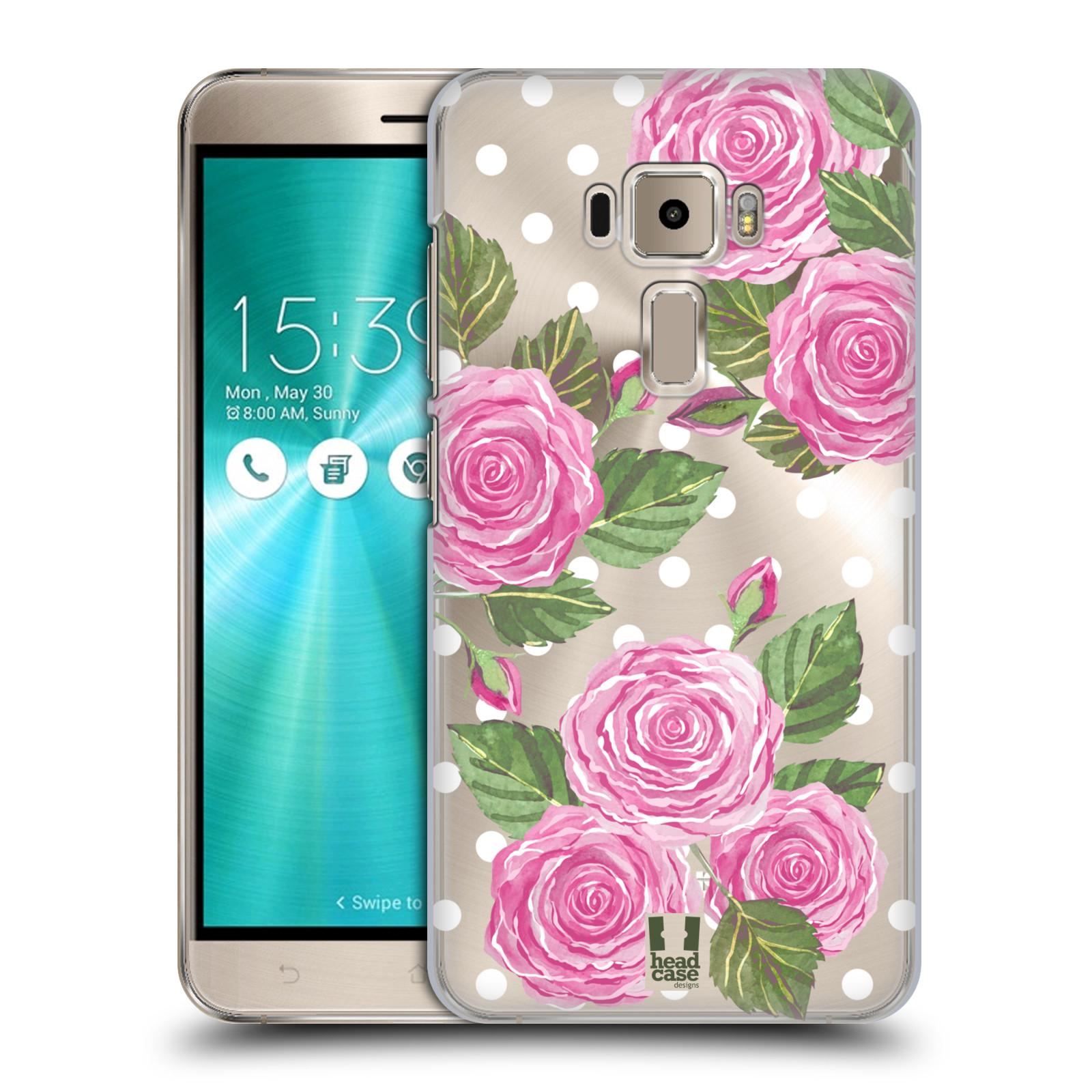 Plastové pouzdro na mobil Asus ZenFone 3 ZE520KL - Head Case - Hezoučké růžičky - průhledné