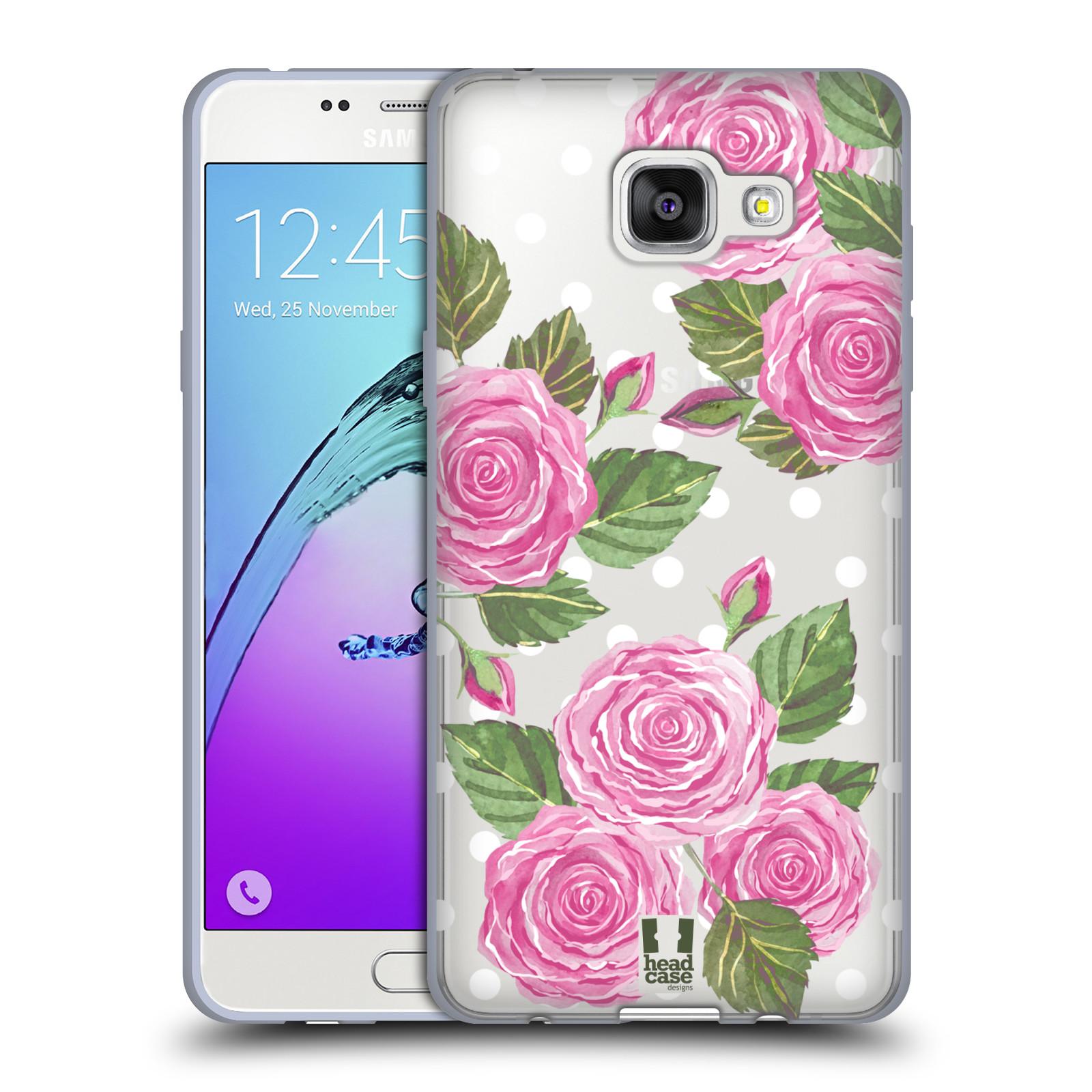 Silikonové pouzdro na mobil Samsung Galaxy A5 (2016) - Head Case - Hezoučké růžičky - průhledné