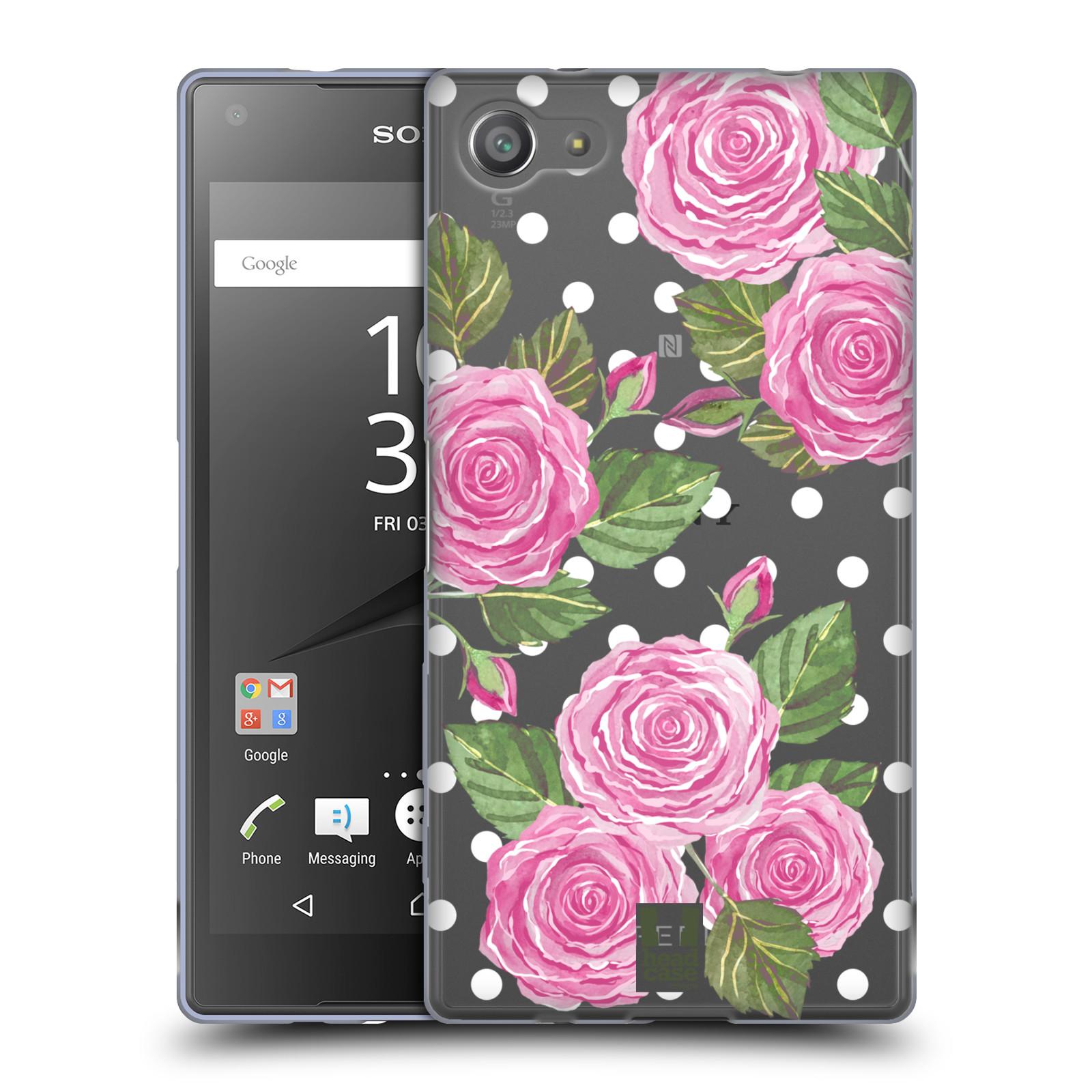 Silikonové pouzdro na mobil Sony Xperia Z5 Compact - Head Case - Hezoučké růžičky - průhledné