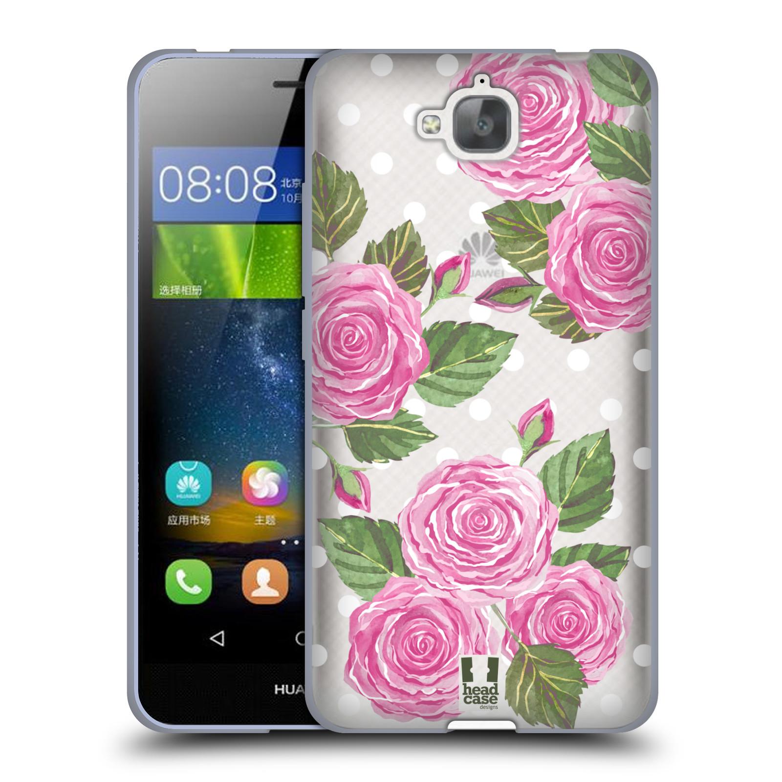 Silikonové pouzdro na mobil Huawei Y6 Pro Dual Sim - Head Case - Hezoučké růžičky - průhledné