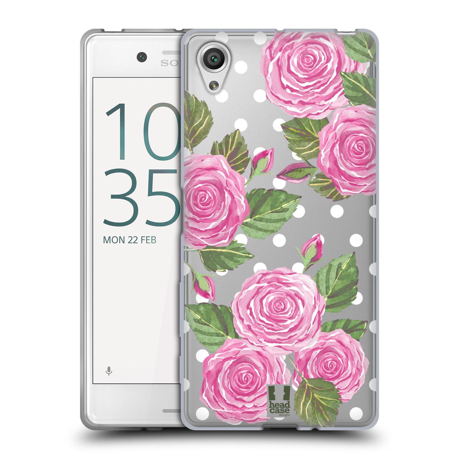 Silikonové pouzdro na mobil Sony Xperia X - Head Case - Hezoučké růžičky - průhledné