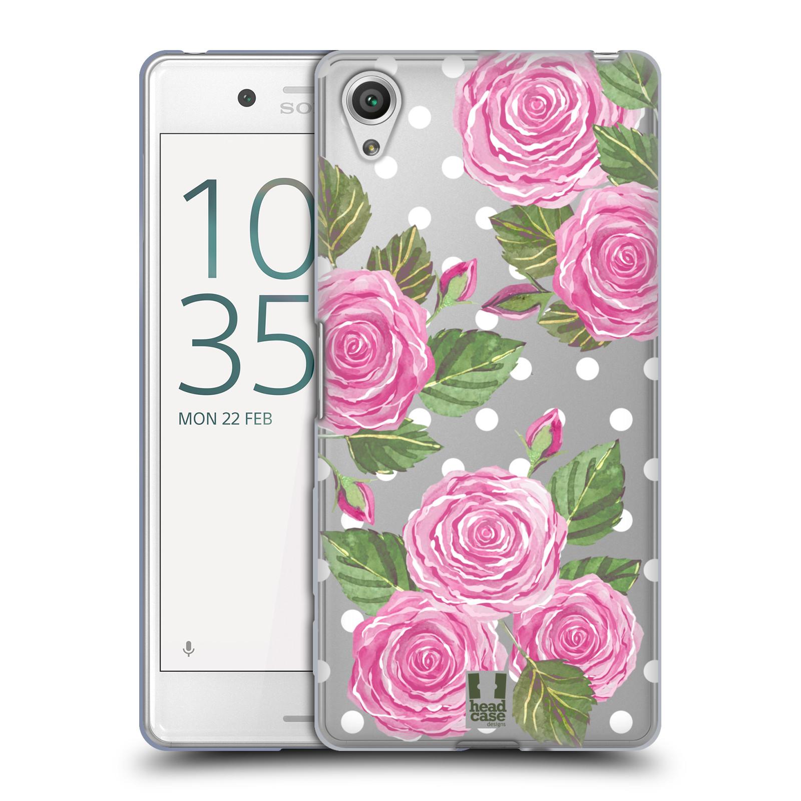Silikonové pouzdro na mobil Sony Xperia X Performance - Head Case - Hezoučké růžičky - průhledné