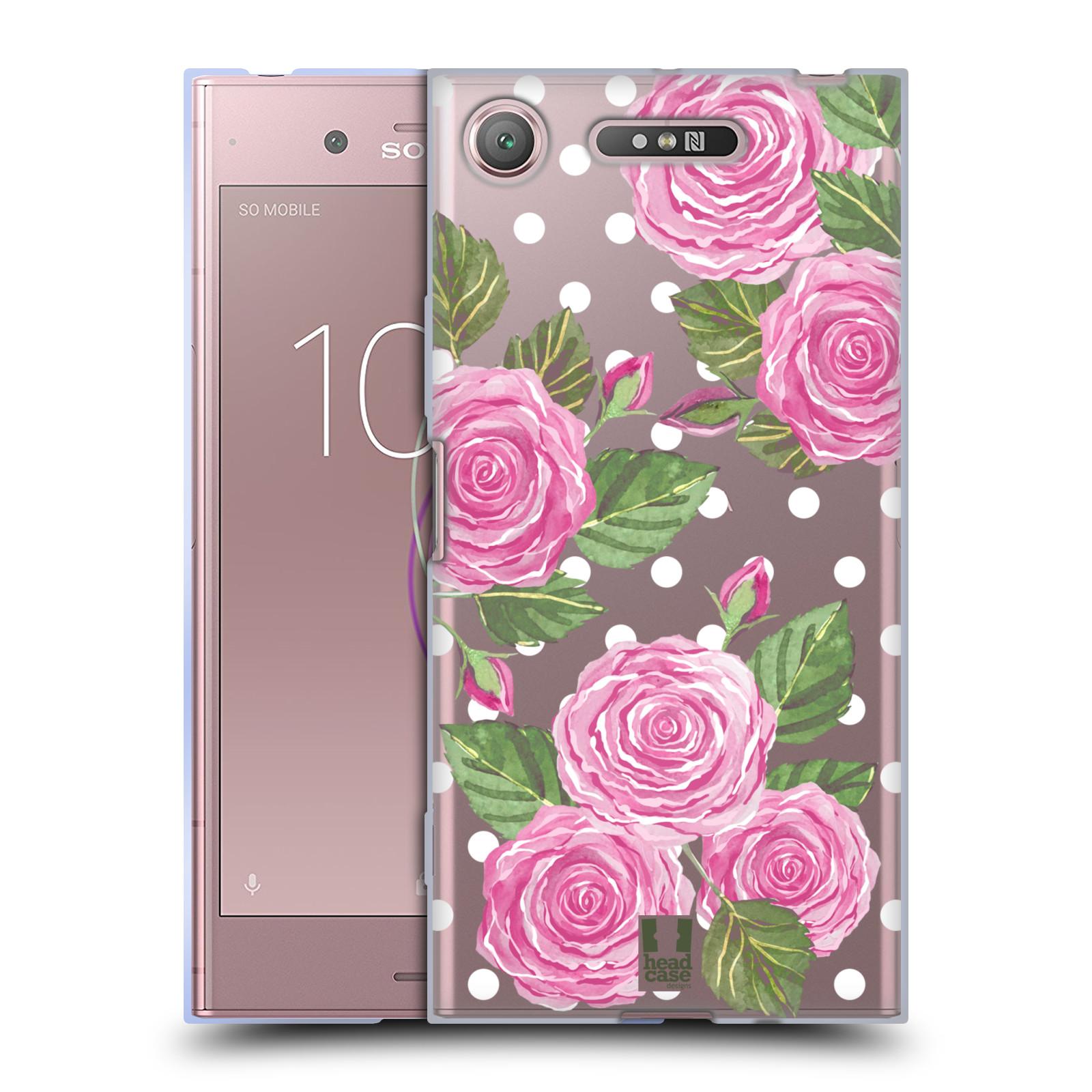 Silikonové pouzdro na mobil Sony Xperia XZ1 - Head Case - Hezoučké růžičky - průhledné