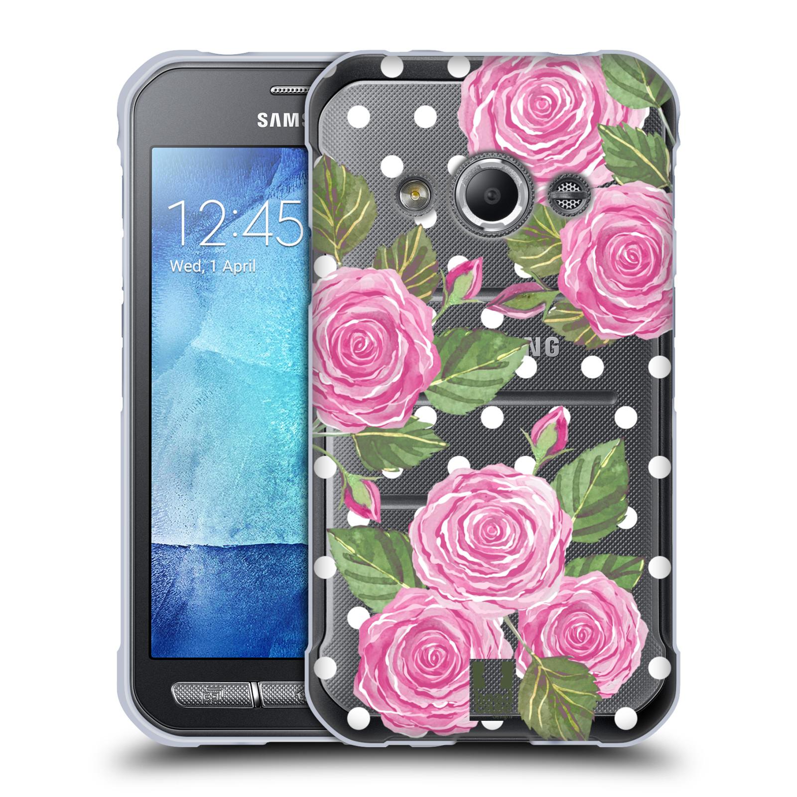 Silikonové pouzdro na mobil Samsung Galaxy Xcover 3 - Head Case - Hezoučké růžičky - průhledné