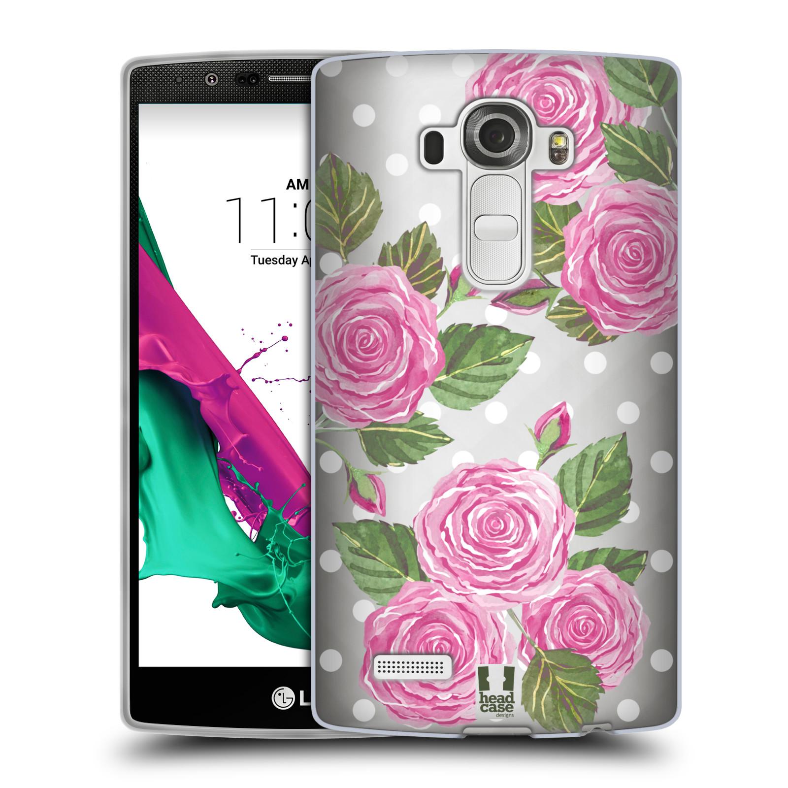 Silikonové pouzdro na mobil LG G4 - Head Case - Hezoučké růžičky - průhledné