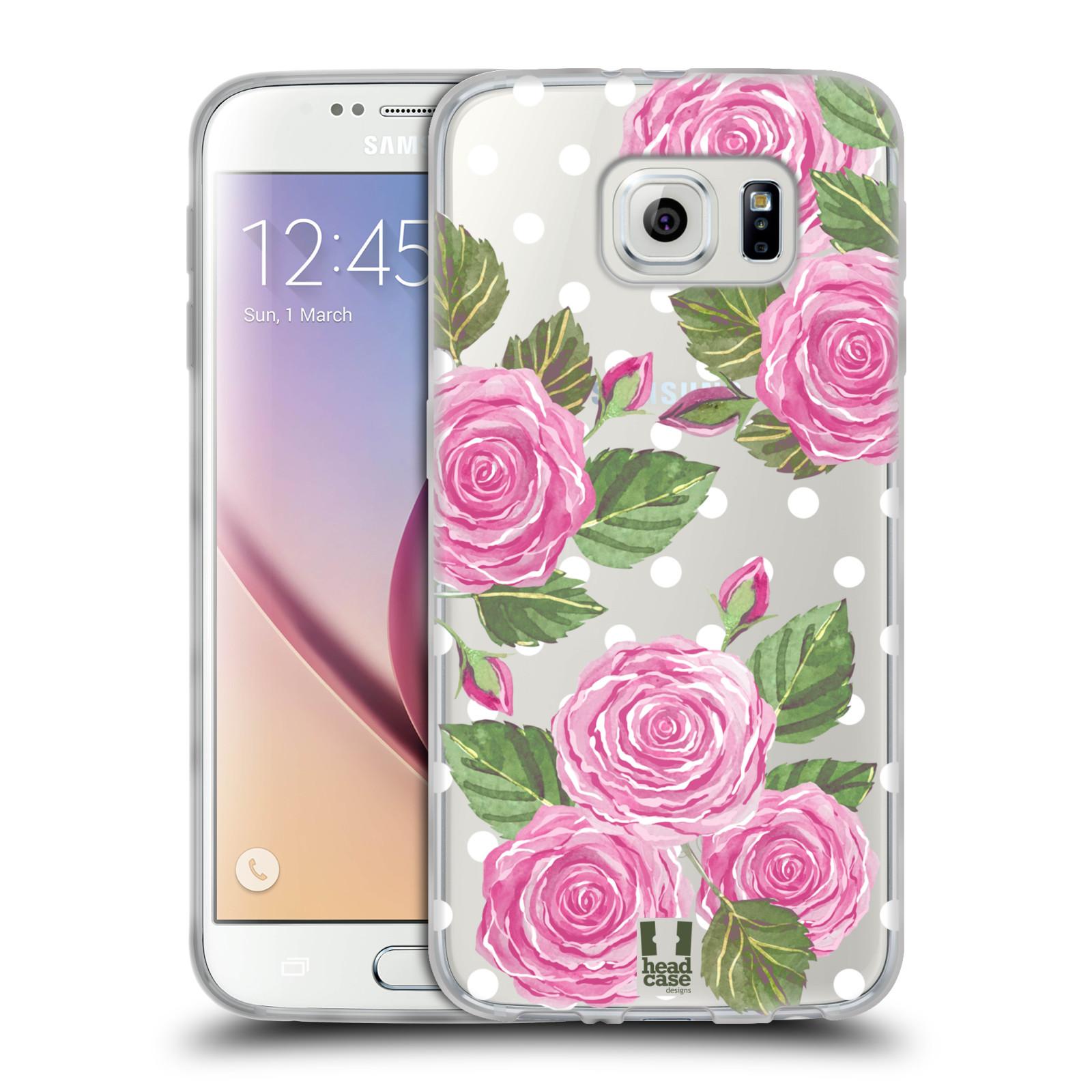 Silikonové pouzdro na mobil Samsung Galaxy S6 - Head Case - Hezoučké růžičky - průhledné