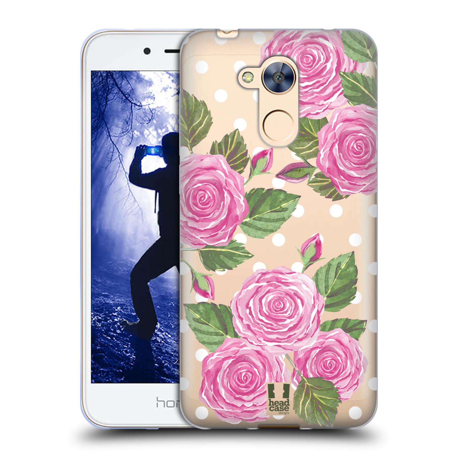 Silikonové pouzdro na mobil Honor 6A - Head Case - Hezoučké růžičky - průhledné