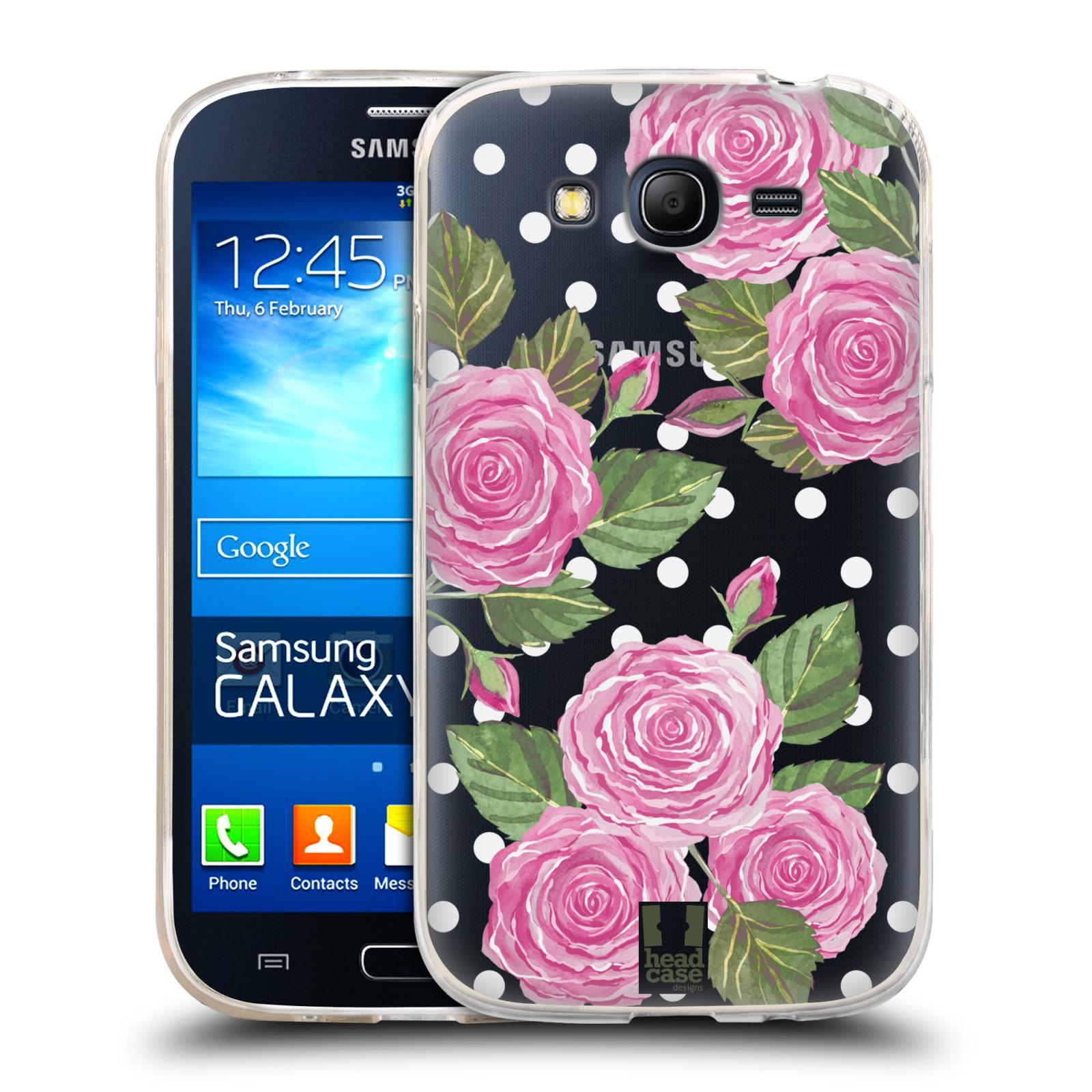 Silikonové pouzdro na mobil Samsung Galaxy Grand Neo Plus - Head Case - Hezoučké růžičky - průhledné