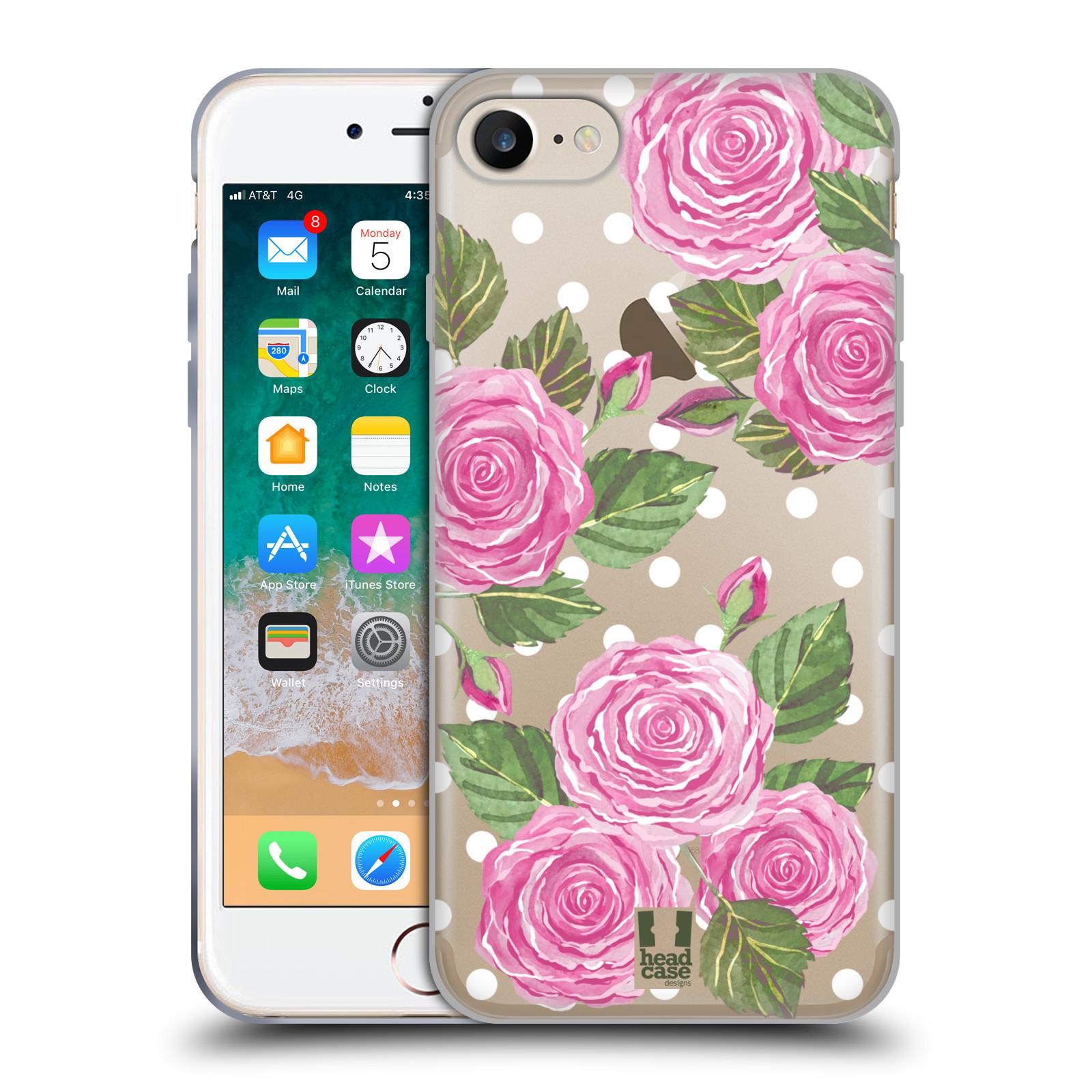 Silikonové pouzdro na mobil Apple iPhone 7 - Head Case - Hezoučké růžičky - průhledné
