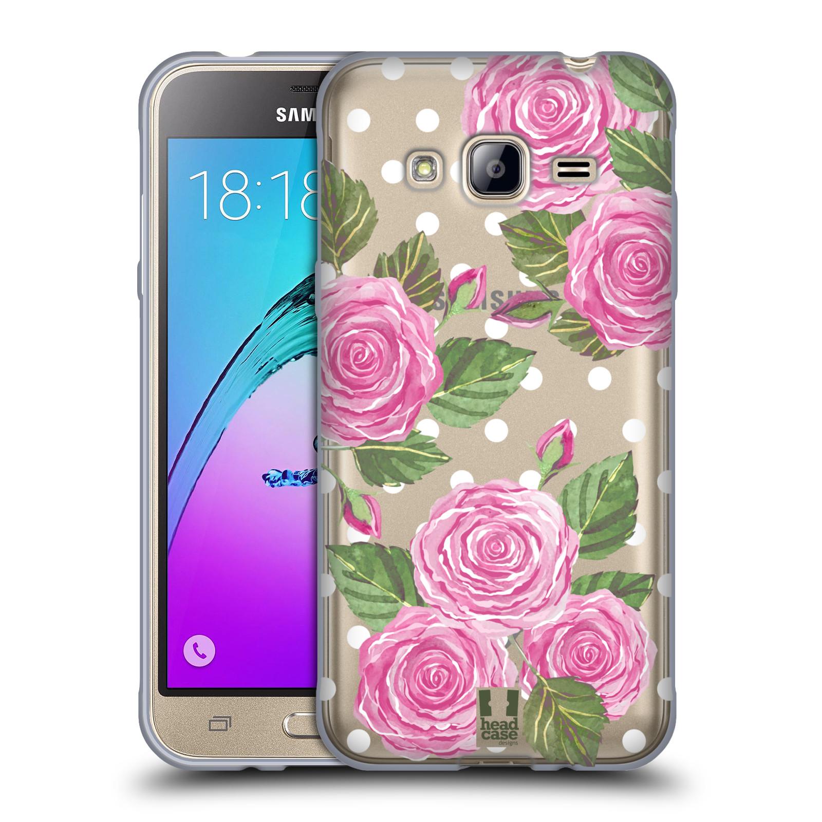 Silikonové pouzdro na mobil Samsung Galaxy J3 (2016) - Head Case - Hezoučké růžičky - průhledné