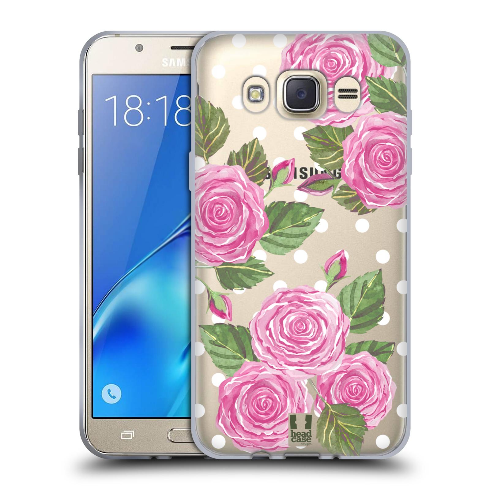 Silikonové pouzdro na mobil Samsung Galaxy J7 (2016) - Head Case - Hezoučké růžičky - průhledné