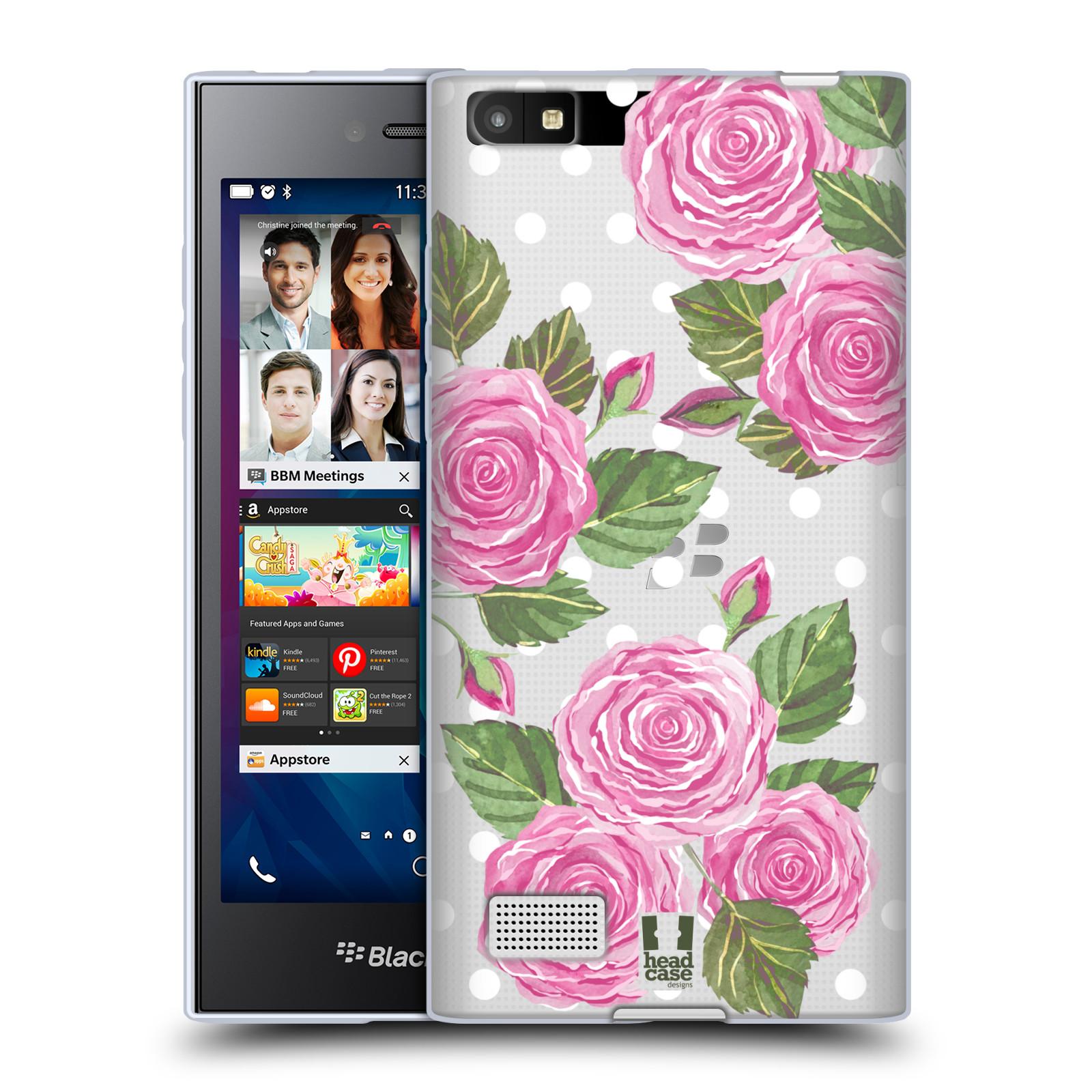 Silikonové pouzdro na mobil Blackberry Leap - Head Case - Hezoučké růžičky - průhledné